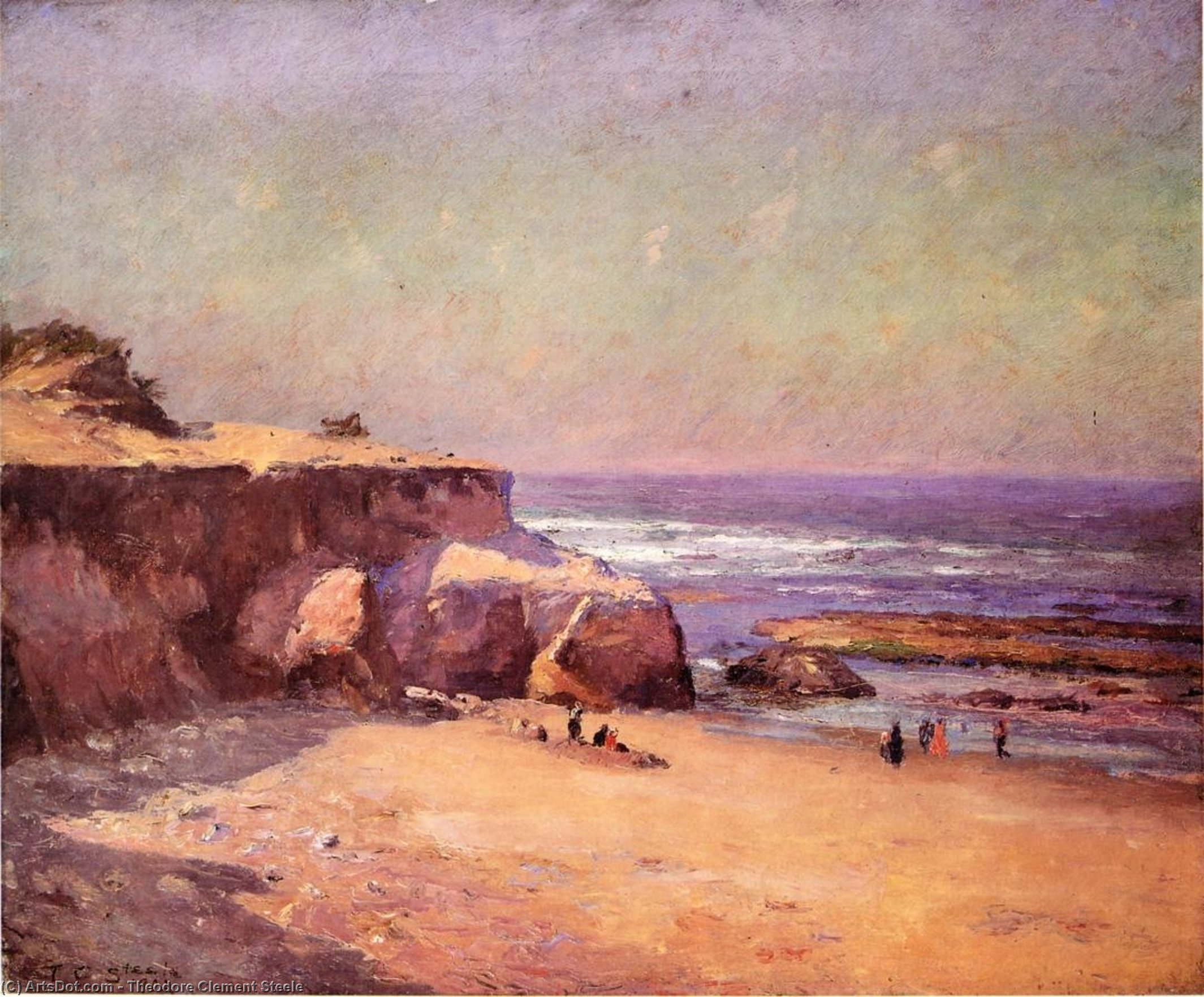 Order Paintings Reproductions | On the Oregon Coast, 1902 by Theodore Clement Steele (1847-1926, United States) | ArtsDot.com