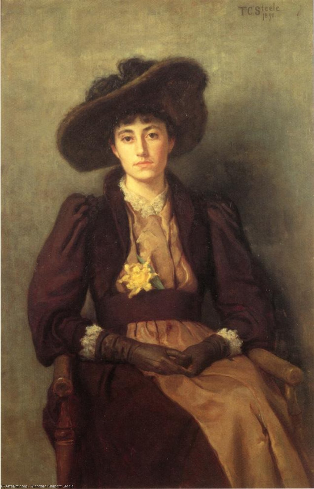 Portrait of Daisy, 1891 by Theodore Clement Steele (1847-1926, United States) | ArtsDot.com