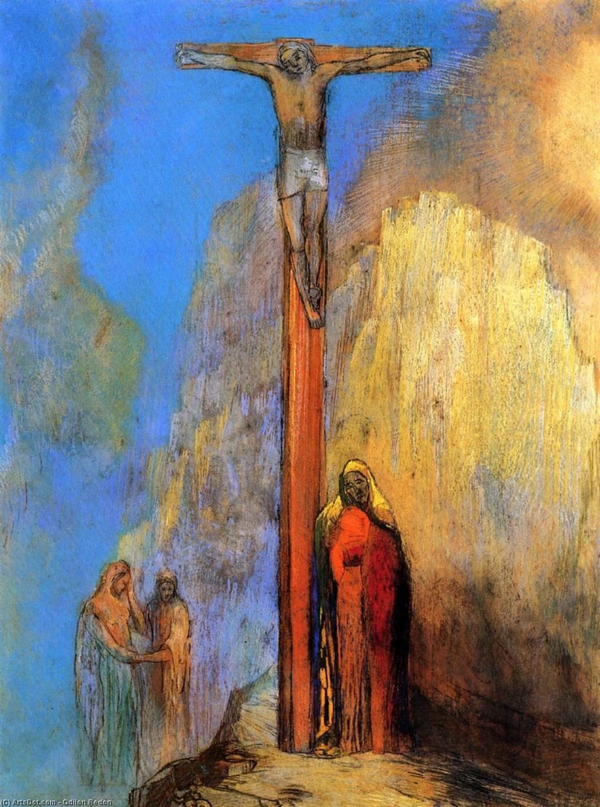 Order Museum Quality Reproductions : Calvary, 1897 by Odilon Redon (1840-1916, France) | ArtsDot.com