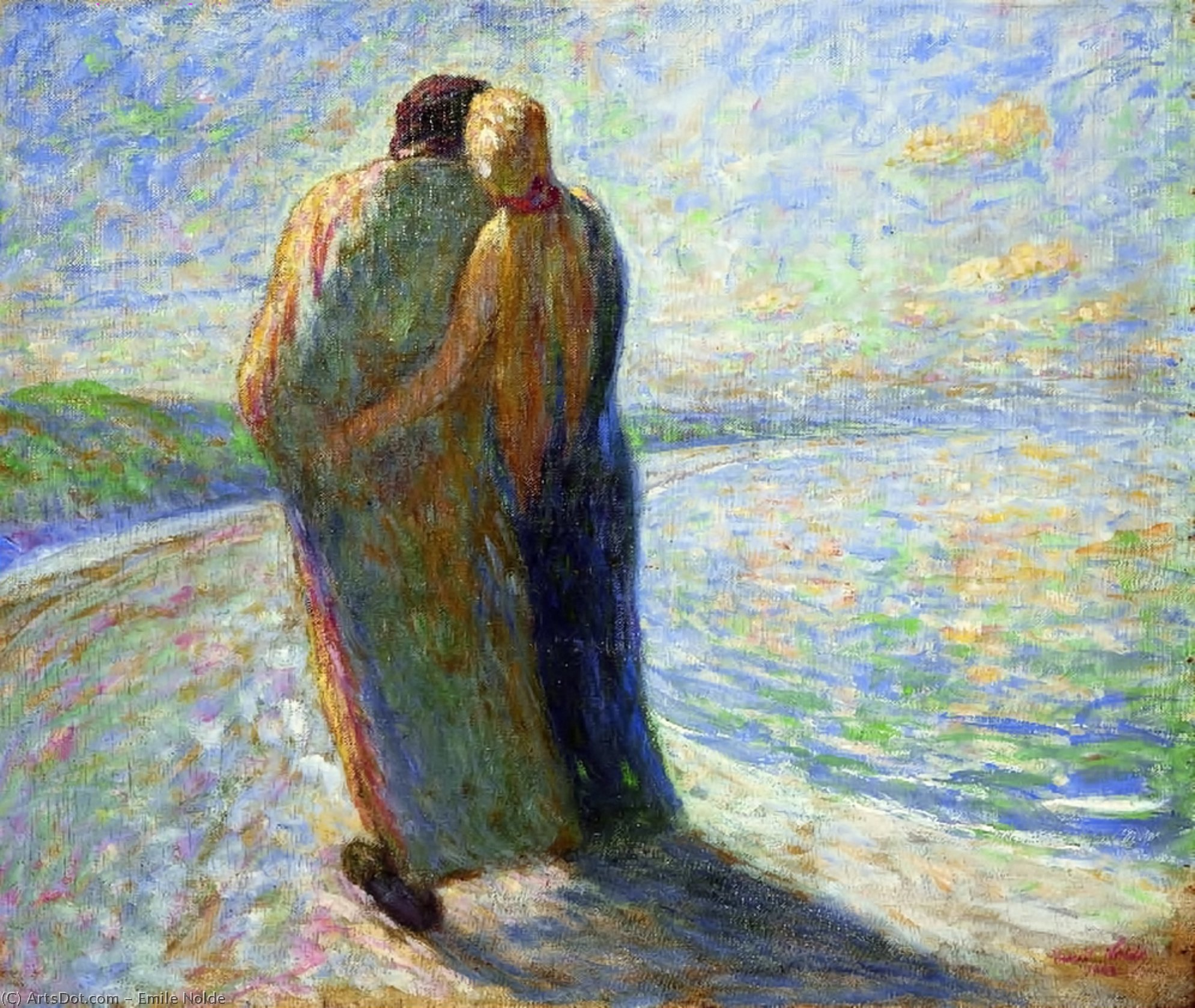 Couple on the beach, 1903 by Emile Nolde (1867-1956, Germany) | Museum Quality Reproductions | ArtsDot.com
