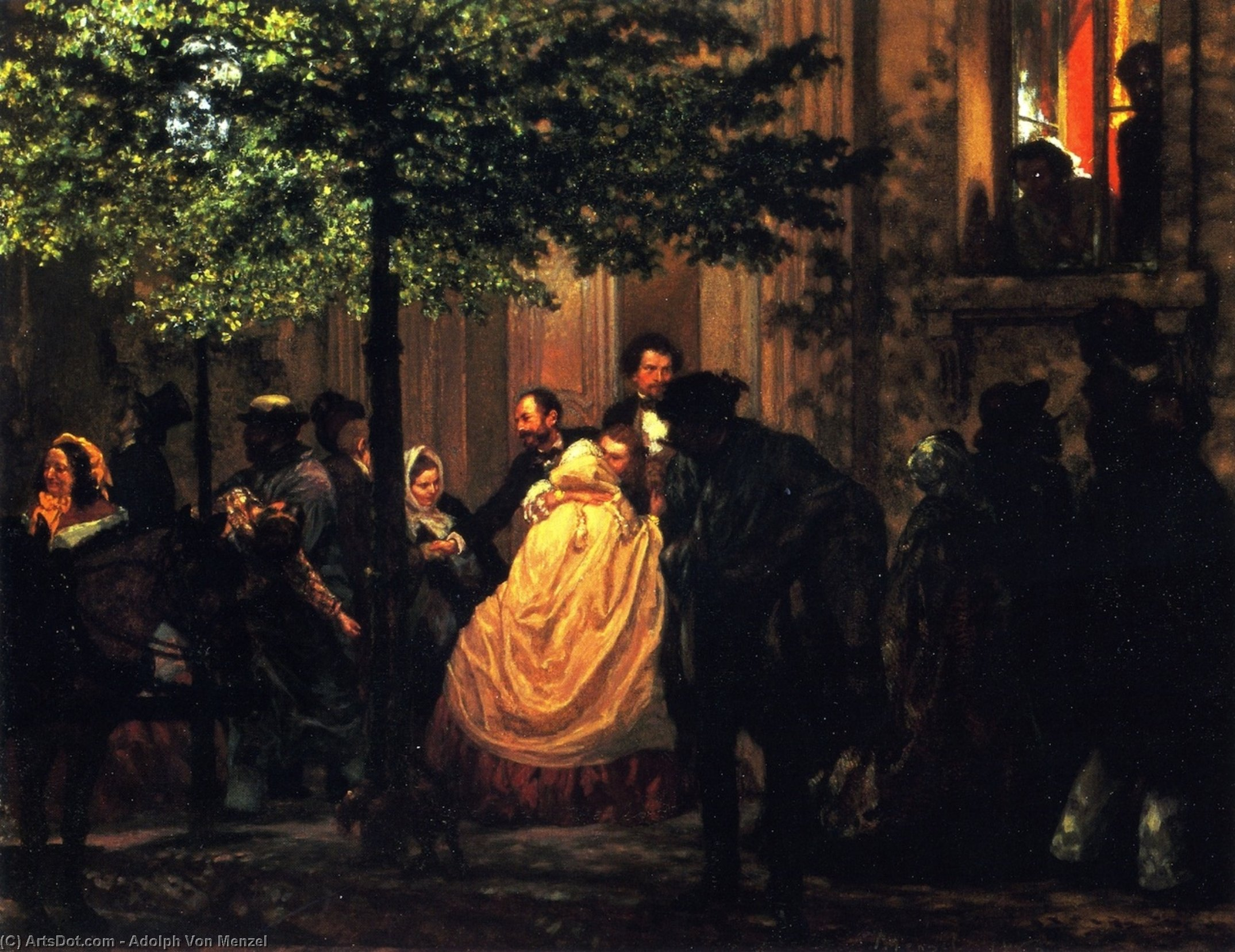 The End of the Evening, 1860 by Adolph Menzel (1815-1905, Poland) | ArtsDot.com