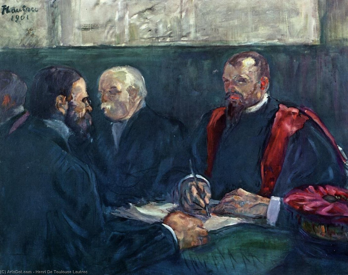An Examination at the Faculty of Medicine, Paris, Oil On Canvas by Henri De Toulouse Lautrec (1864-1901, France)