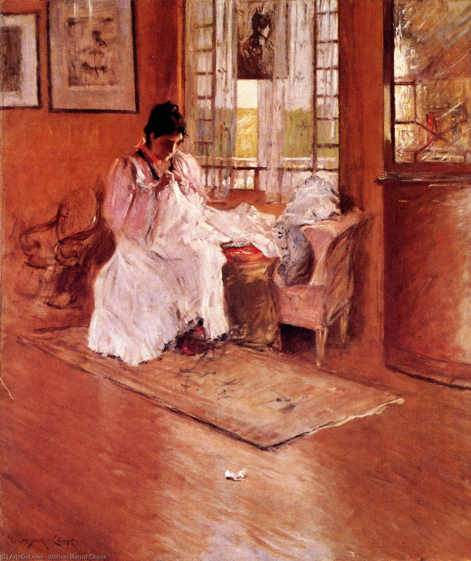 For the Little One (also known as Hall at Shinnecock), Oil On Canvas by William Merritt Chase (1849-1916, United States)