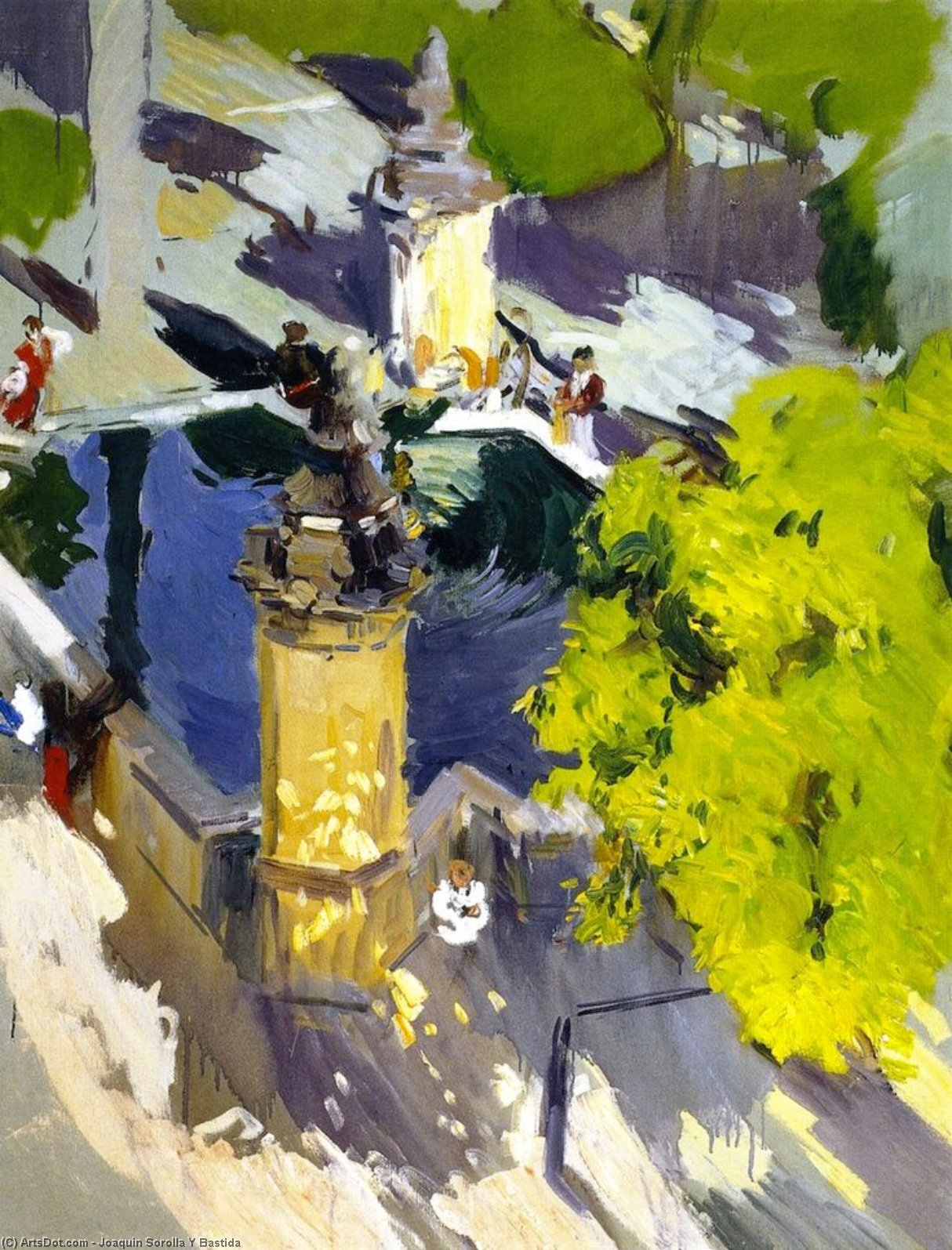 Fountain of the Mosque, Cordoba, Oil On Canvas by Joaquin Sorolla Y Bastida (1863-1923, Spain)