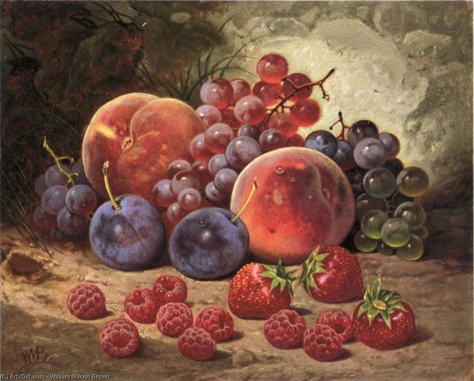 Fruits of Summer, Painting by William Mason Brown (1828-1898, United States)