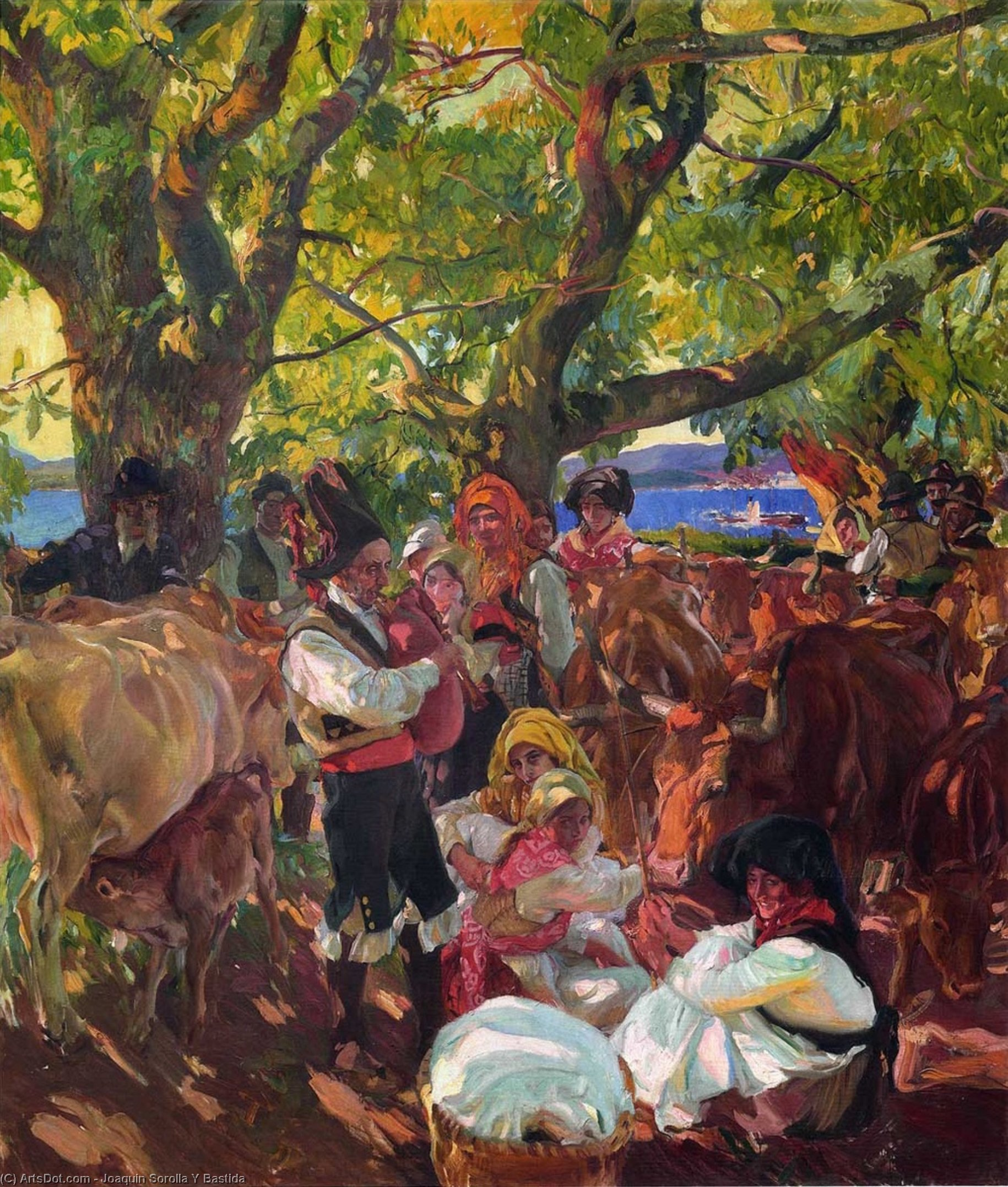 Galicia, the Pilgrimage (also known as The Cattle Fair, Galicia), Oil On Canvas by Joaquin Sorolla Y Bastida (1863-1923, Spain)