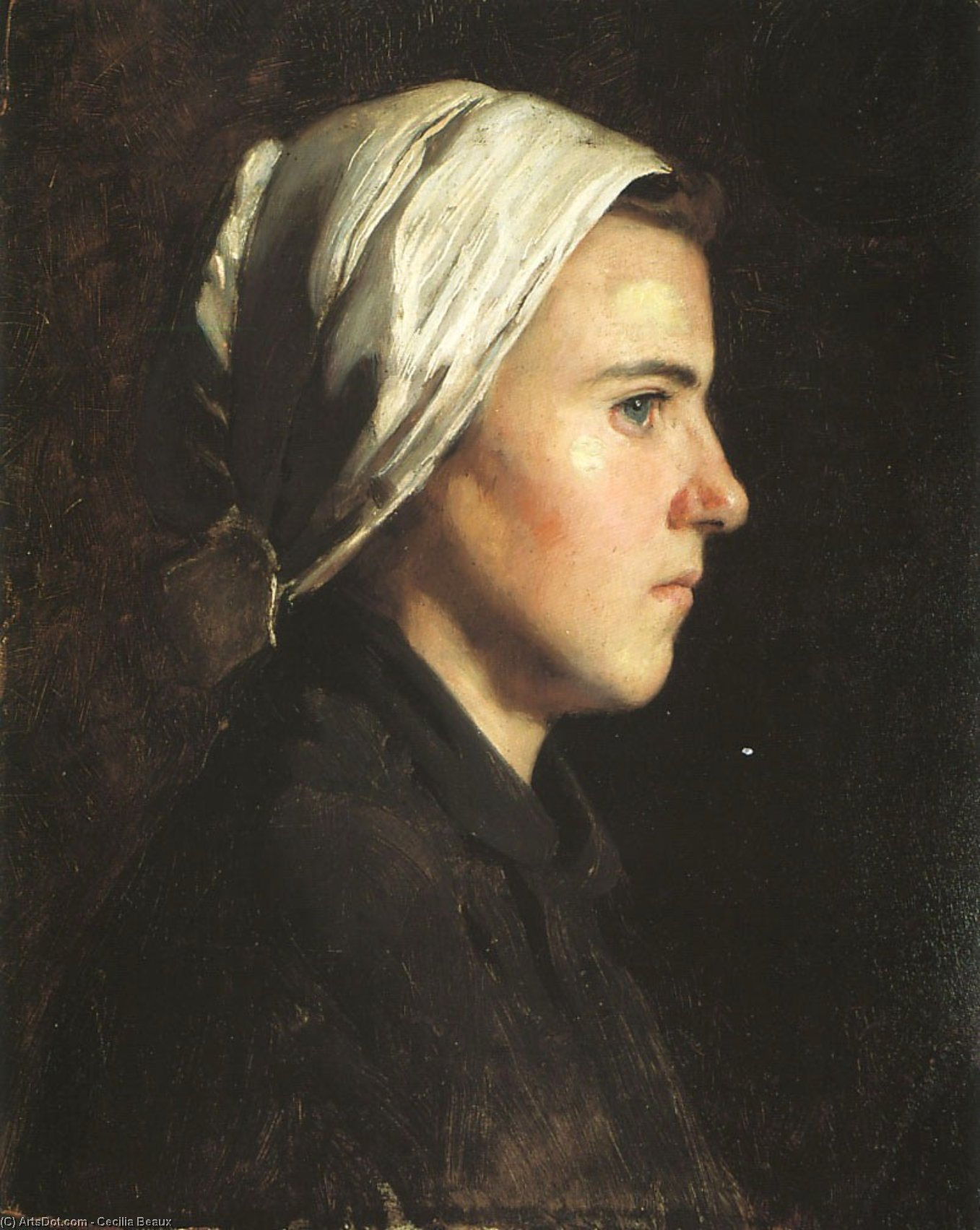 Head of a Woman, 1888 by Cecilia Beaux (1855-1942, United States) | Art Reproduction | ArtsDot.com