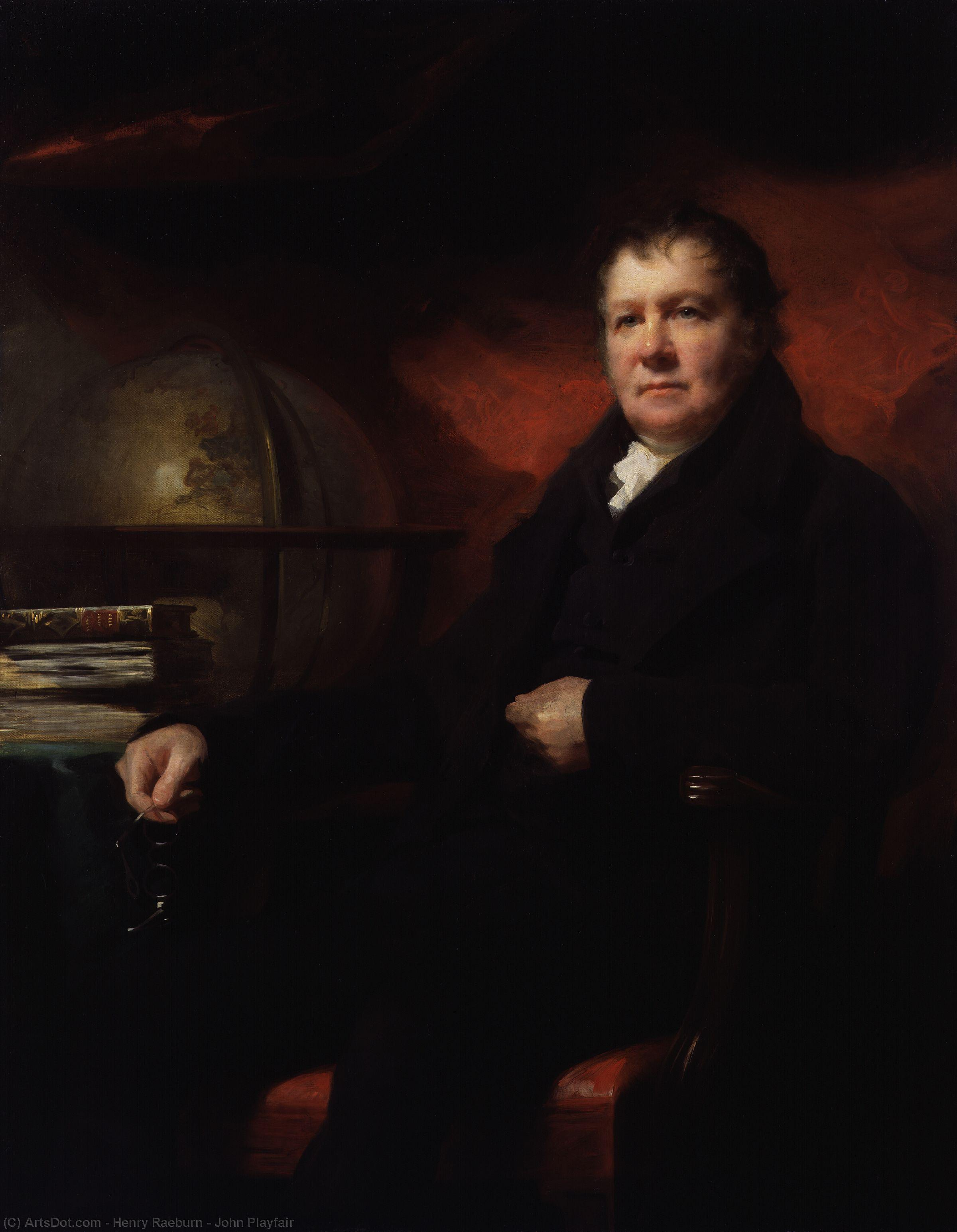 Order Painting Copy : John Playfair by Henry Raeburn (1756-1823, United Kingdom) | ArtsDot.com
