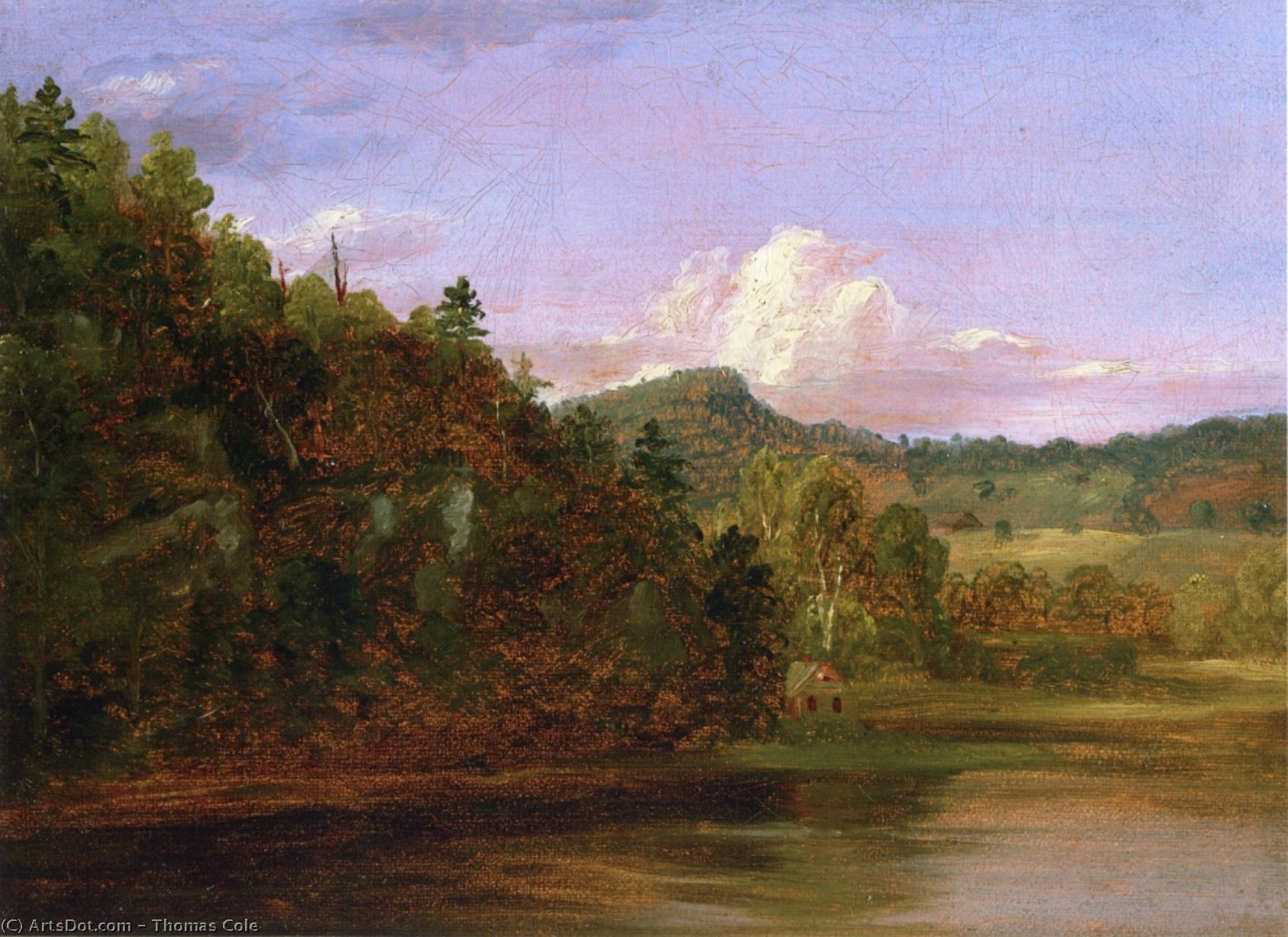 Landscape (also known as American Lake in Summer), Oil On Canvas by Thomas Cole (1801-1848, United Kingdom)