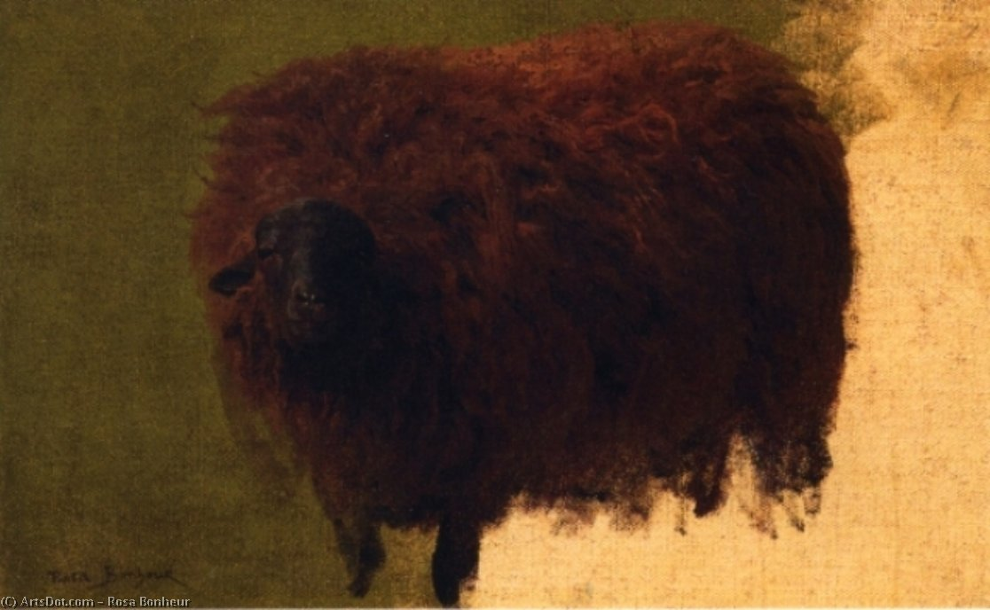Large Wooly Sheep (also known as Wether) by Rosa Bonheur (1822-1899, France) | Art Reproduction | ArtsDot.com