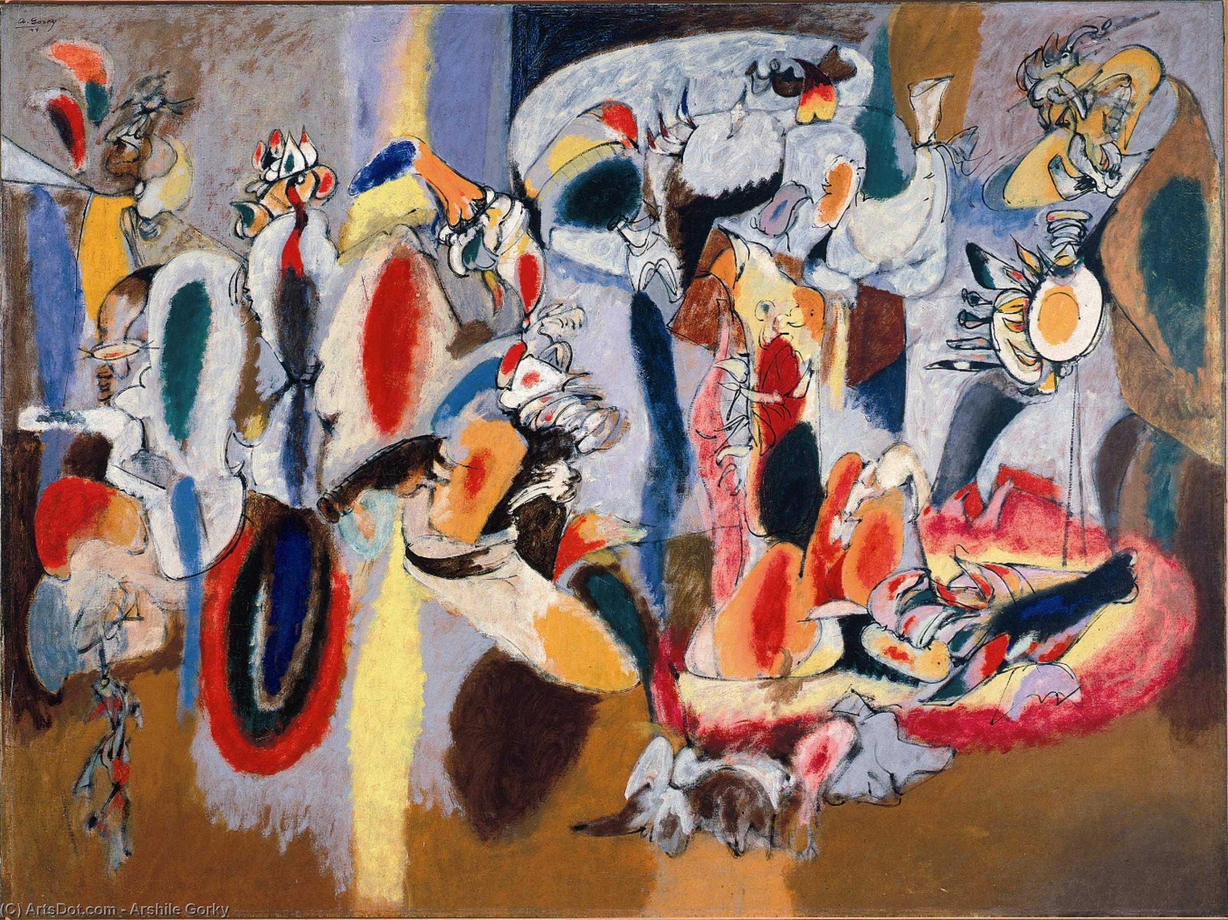 The Liver is the Cock's Comb, Oil On Canvas by Arshile Gorky (1904-1948, Turkey)