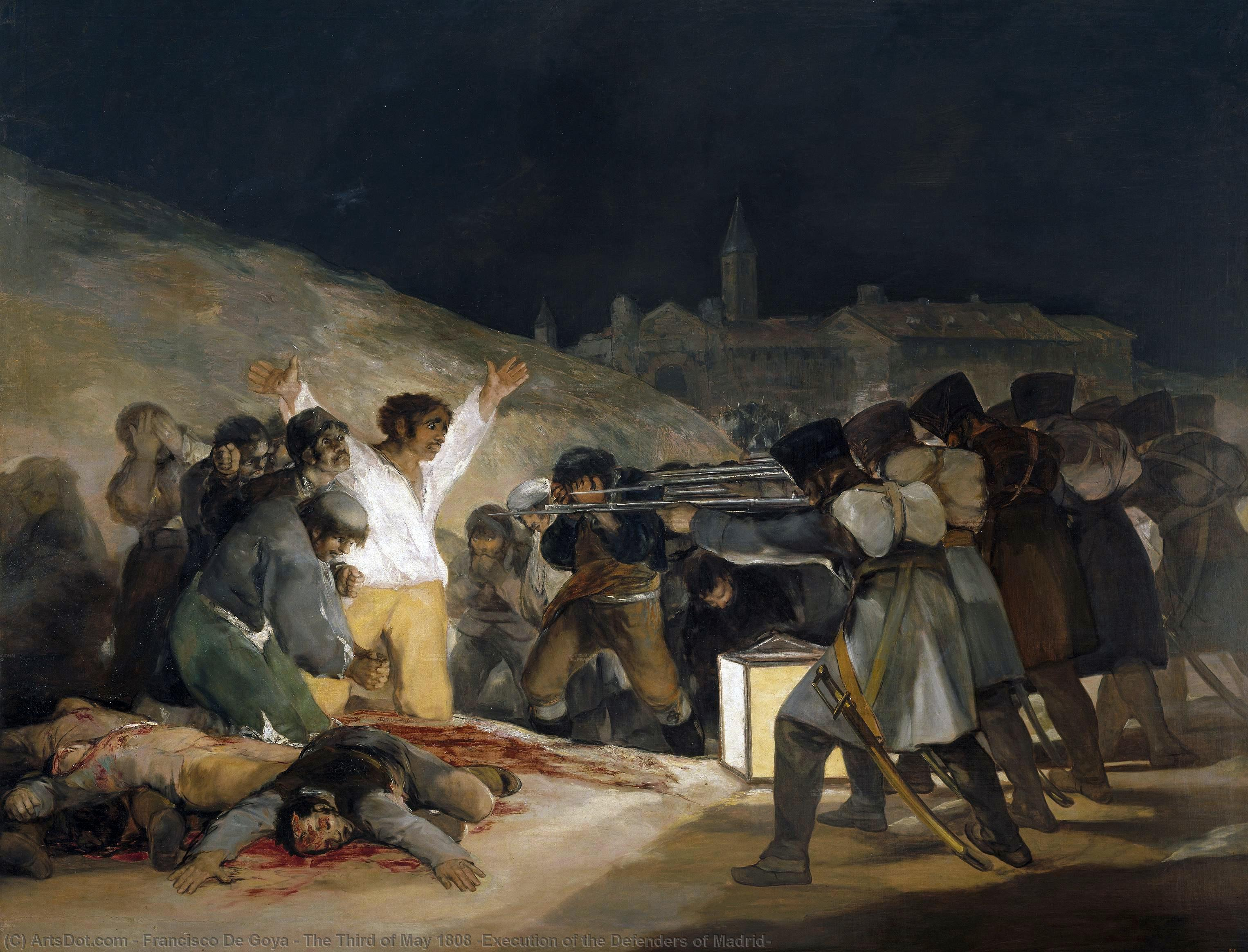The Third of May 1808 (Execution of the Defenders of Madrid), 1814 by Francisco De Goya (1746-1828, Spain) | Art Reproductions Francisco De Goya | ArtsDot.com