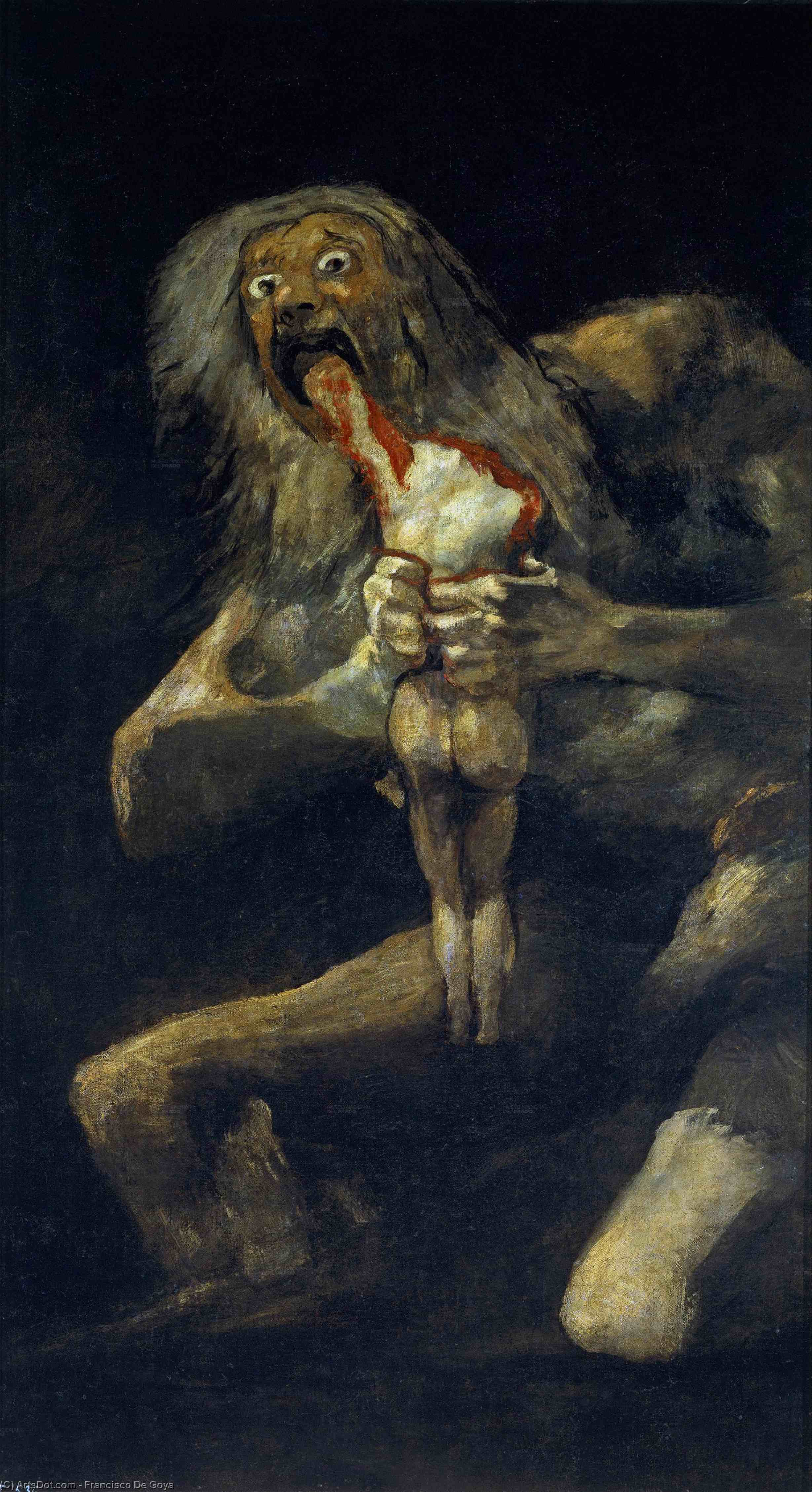 Order Paintings Reproductions | Saturn Devouring His Son, 1823 by Francisco De Goya (1746-1828, Spain) | ArtsDot.com