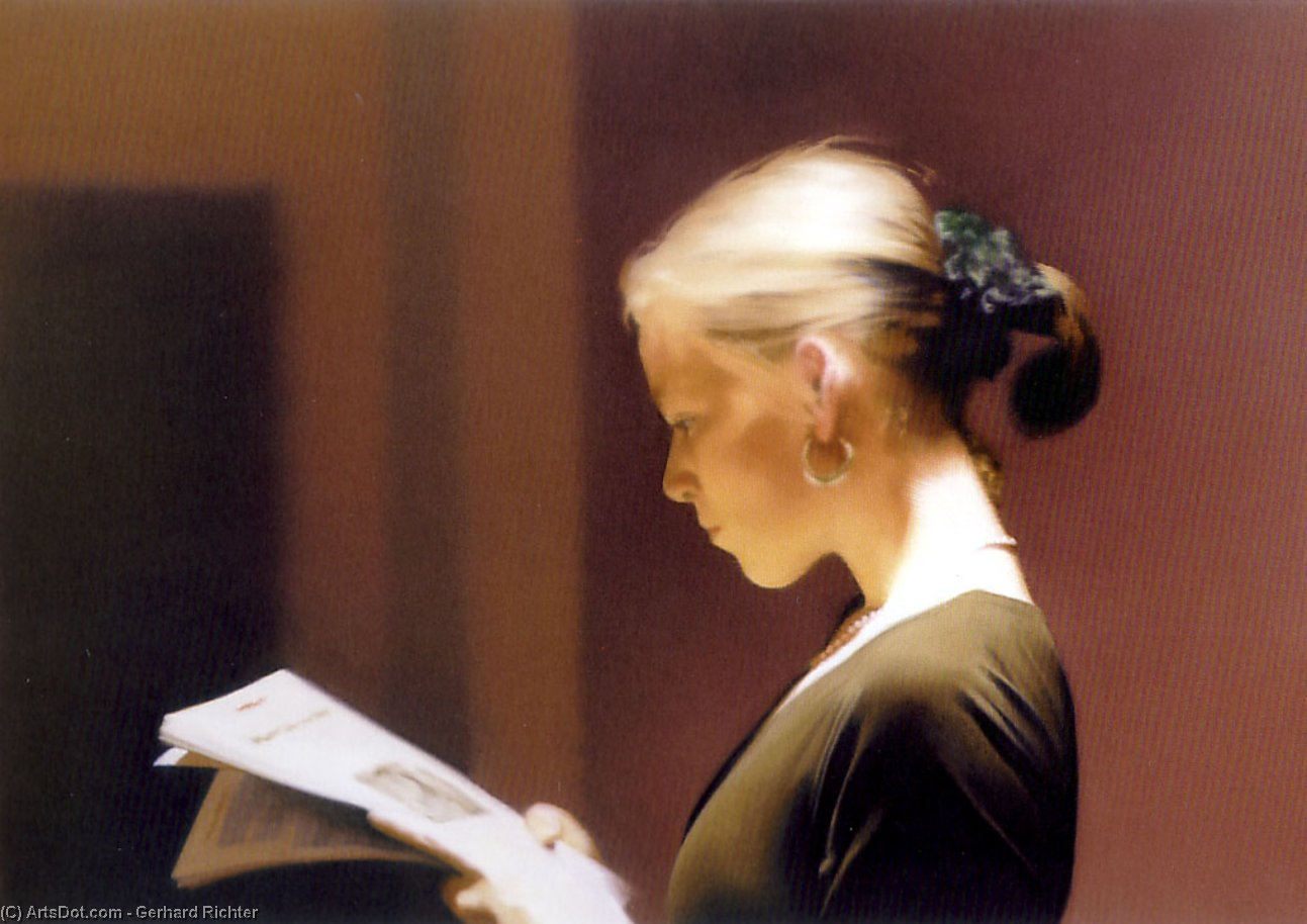 Reading, 1994 by Gerhard Richter