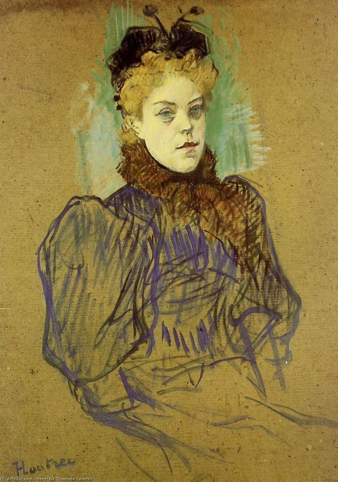 May Milton, 1895 by Henri De Toulouse Lautrec (1864-1901, France)