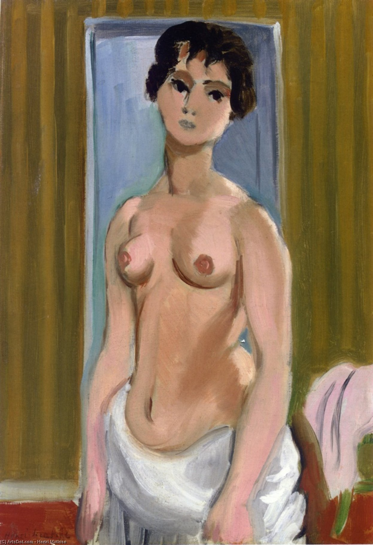 Body of a Girl, 1918 by Henri Matisse (1869-1954, France) |  | ArtsDot.com