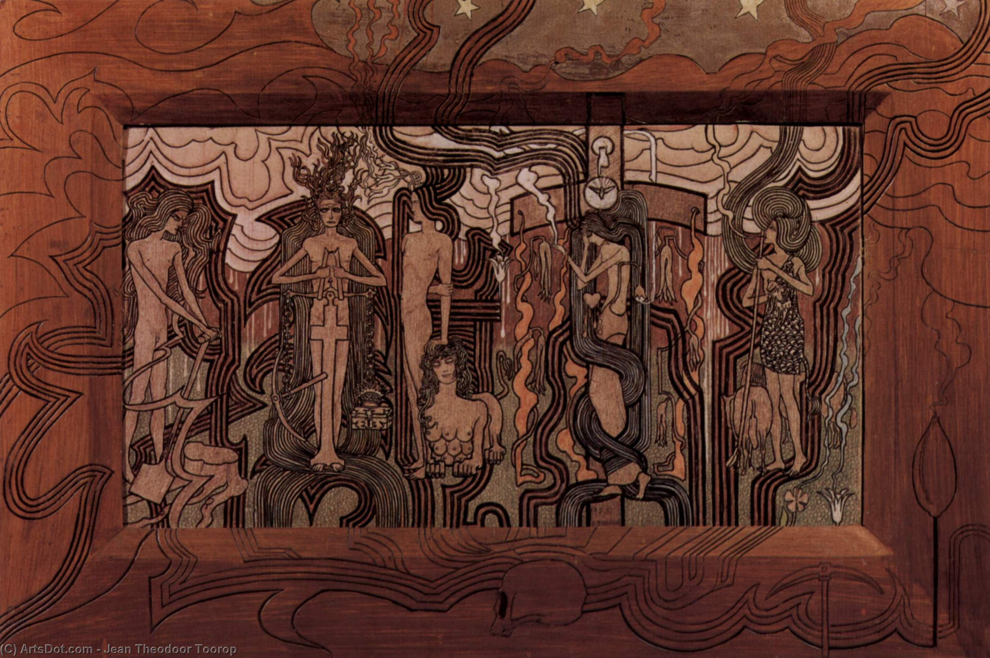Song of the Times, 1893 by Jean Theodoor Toorop (1858-1928, Indonesia)
