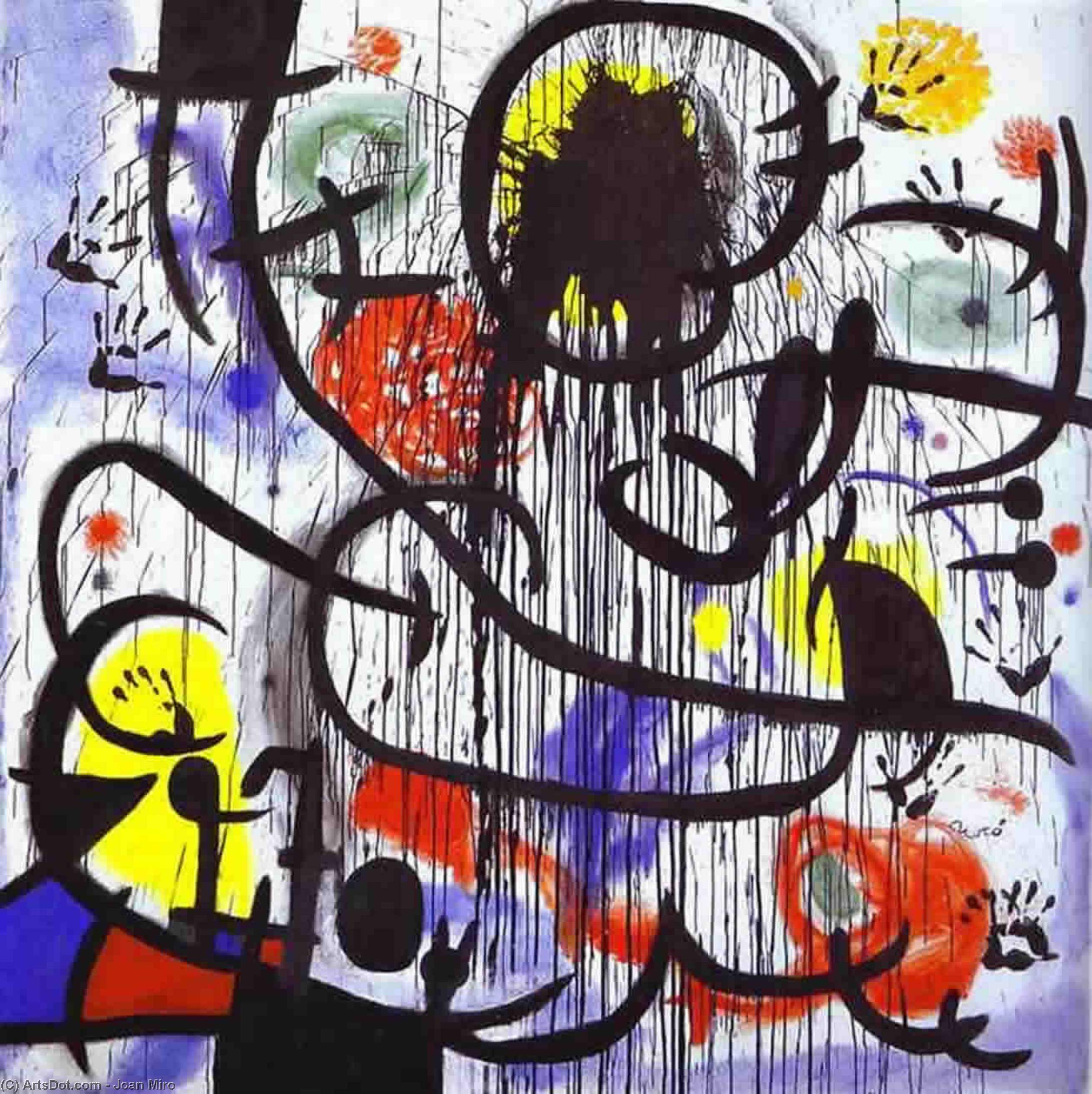May, Acrylic On Canvas by Joan Miro (1893-1983, Spain)