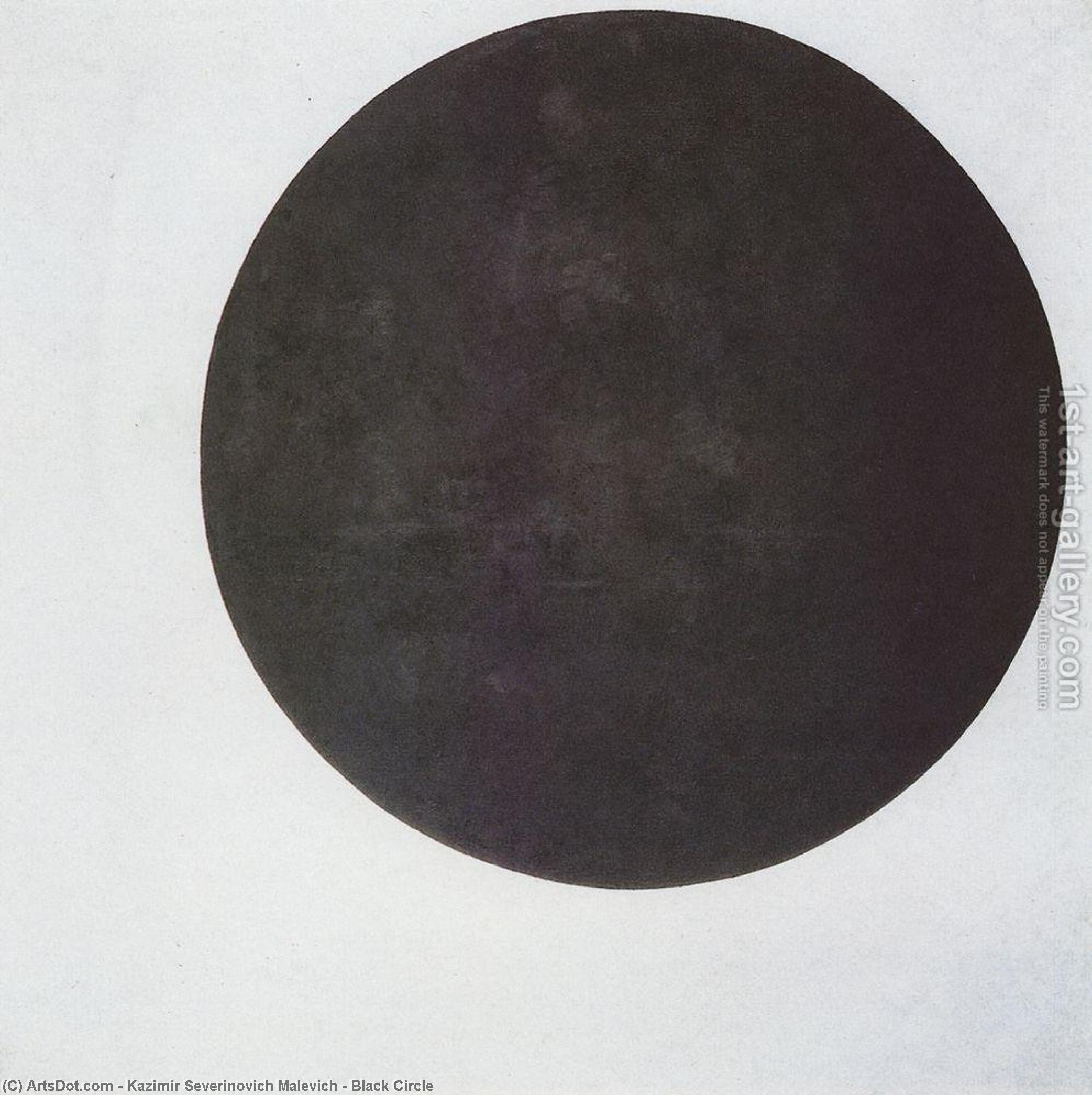 Buy Museum Art Reproductions : Black Circle, 1923 by Kazimir Severinovich Malevich (1879-1935, Ukraine) | ArtsDot.com