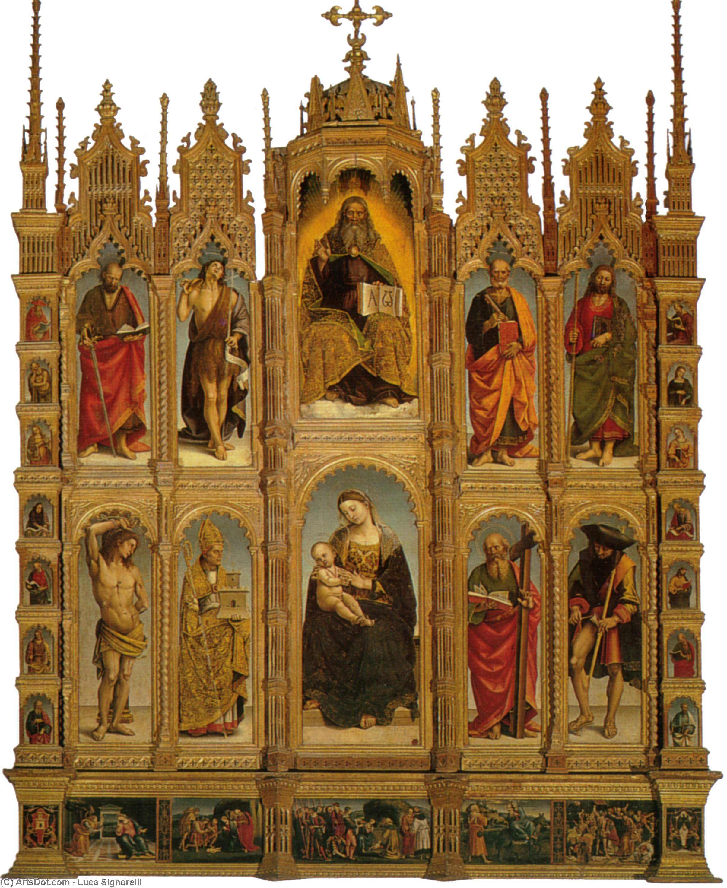 Polyptych by Luca Signorelli (1450-1523, Italy)