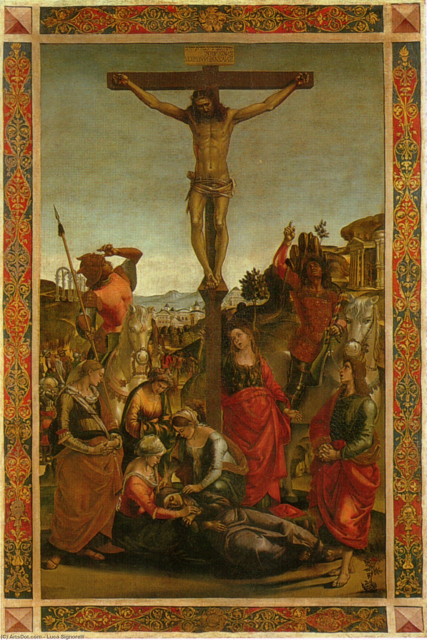 The Crucifixion by Luca Signorelli (1450-1523, Italy)