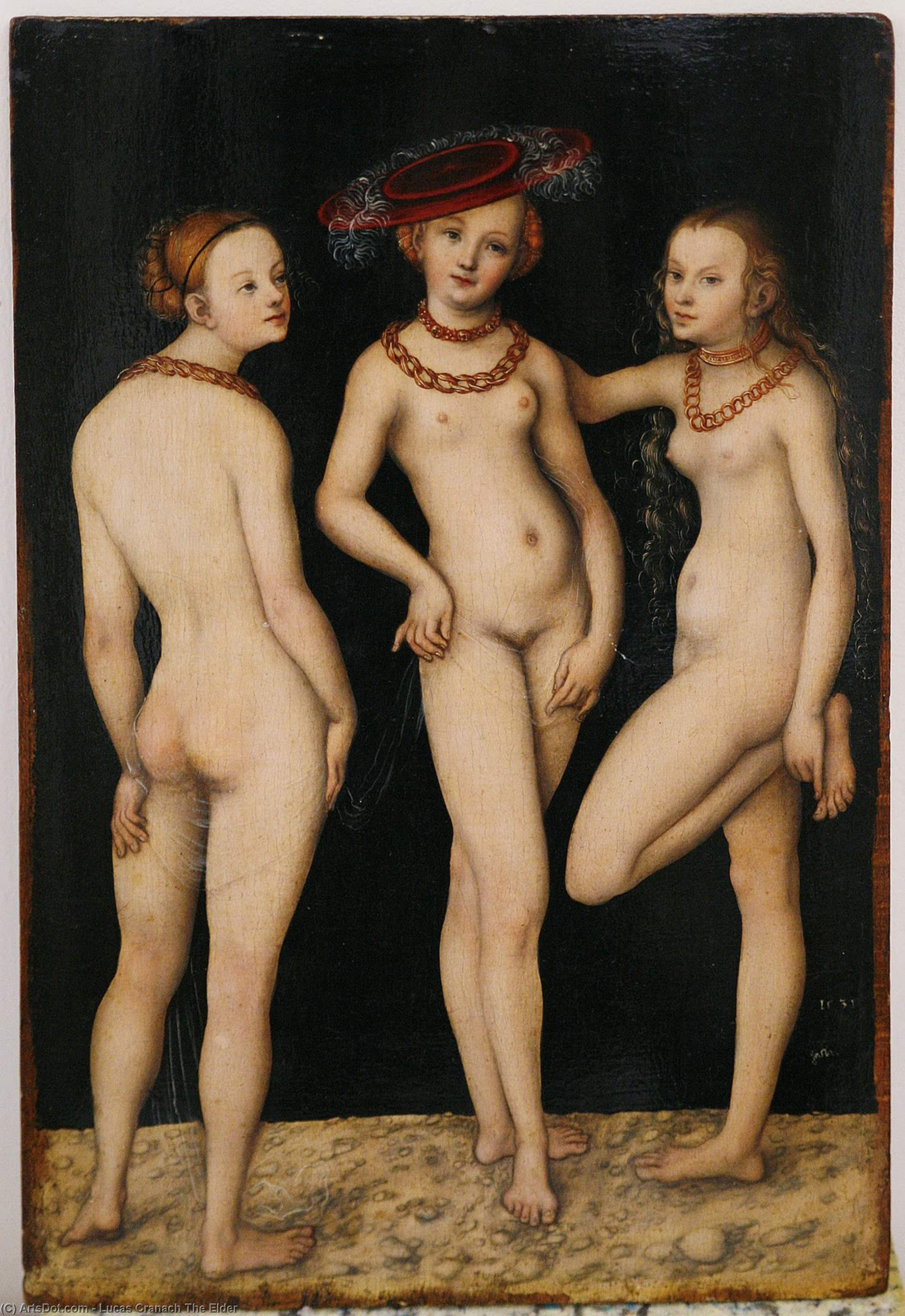 The Three Graces, 1531 by Lucas Cranach The Elder (1472-1553, Germany)