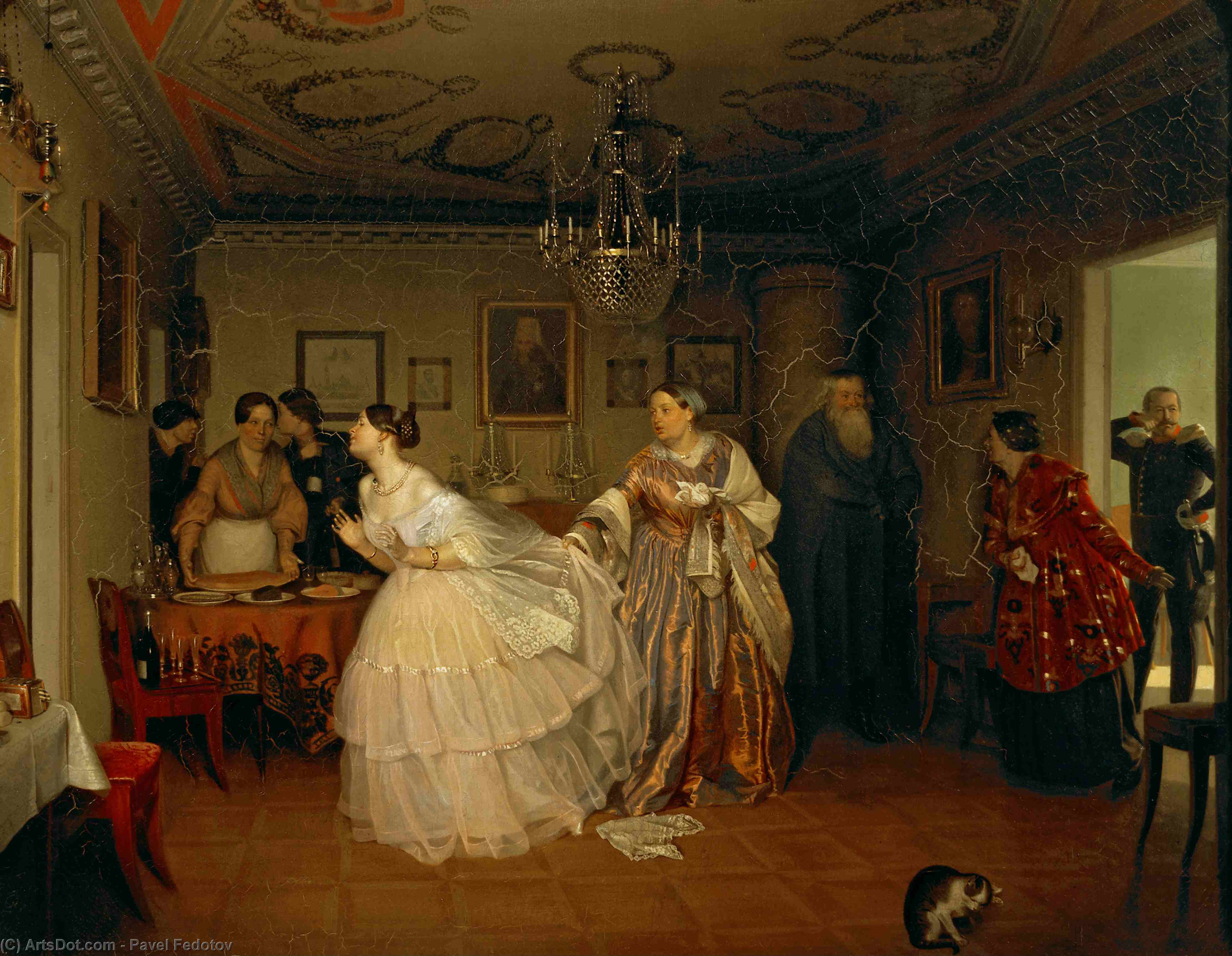The Major`s Marriage Proposal, 1851 by Pavel Fedotov (1815-1852) | Art Reproduction | ArtsDot.com