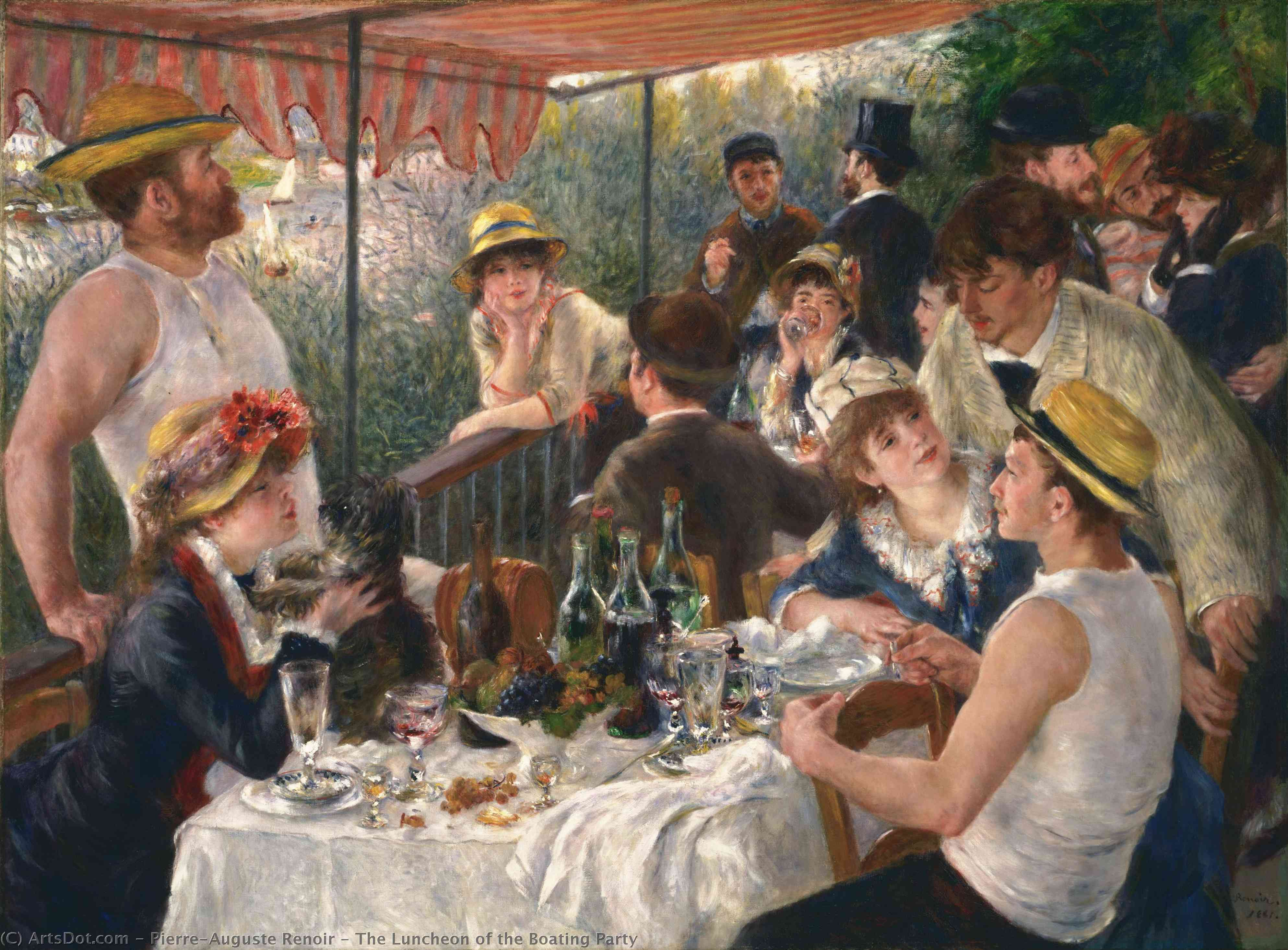 The Luncheon of the Boating Party, 1881 by Pierre-Auguste Renoir (1841-1919, France) | Paintings Reproductions Pierre-Auguste Renoir | ArtsDot.com