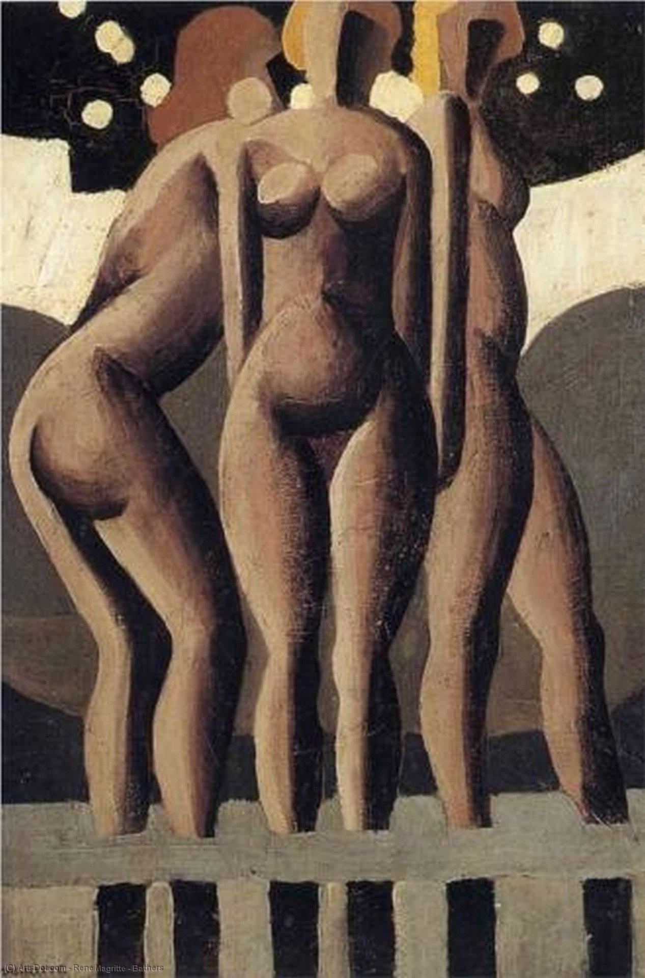 Bathers, 1921 by Rene Magritte (1898-1967, Belgium) | Painting Copy | ArtsDot.com