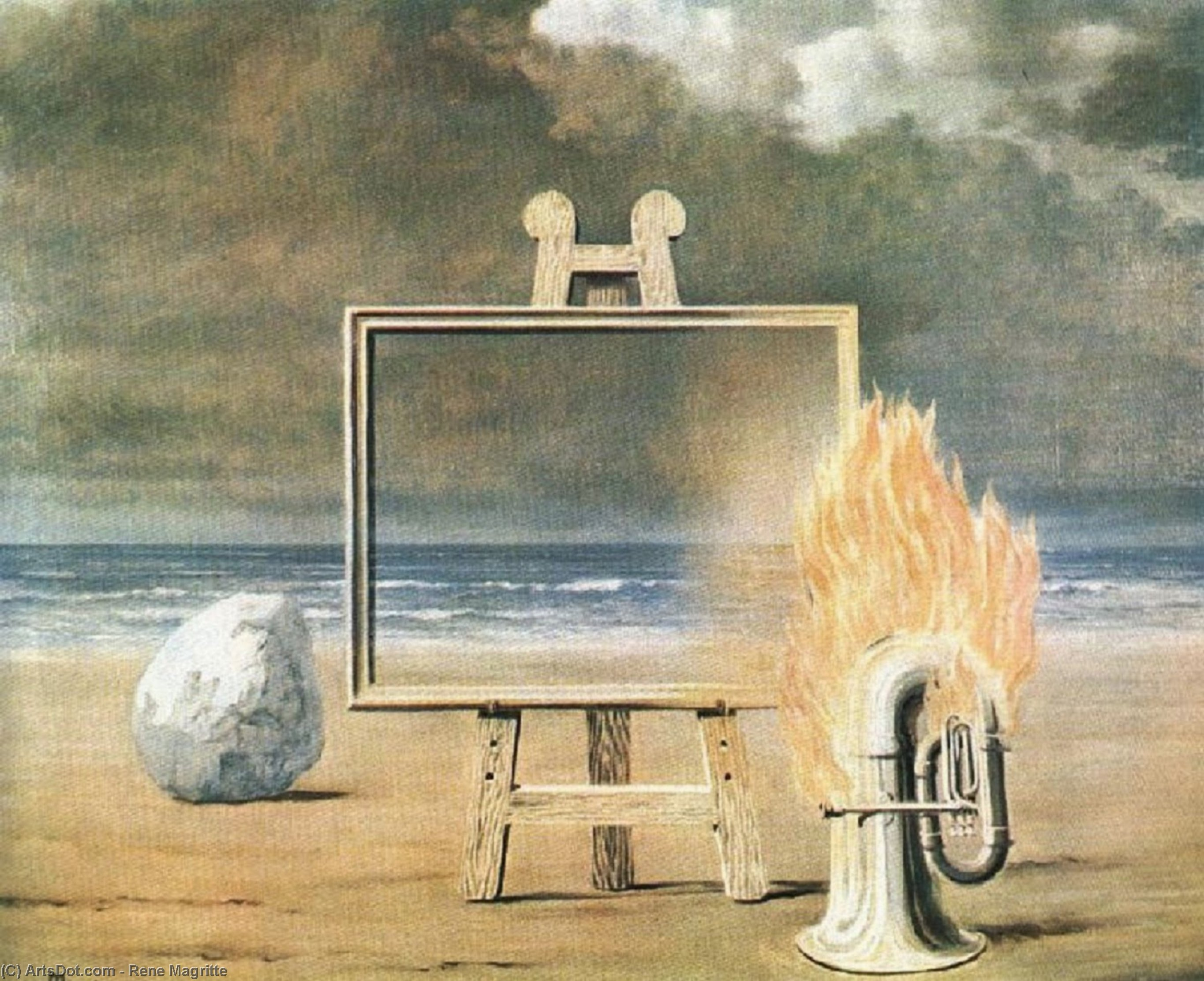 The fair captive, 1947 by Rene Magritte (1898-1967, Belgium)