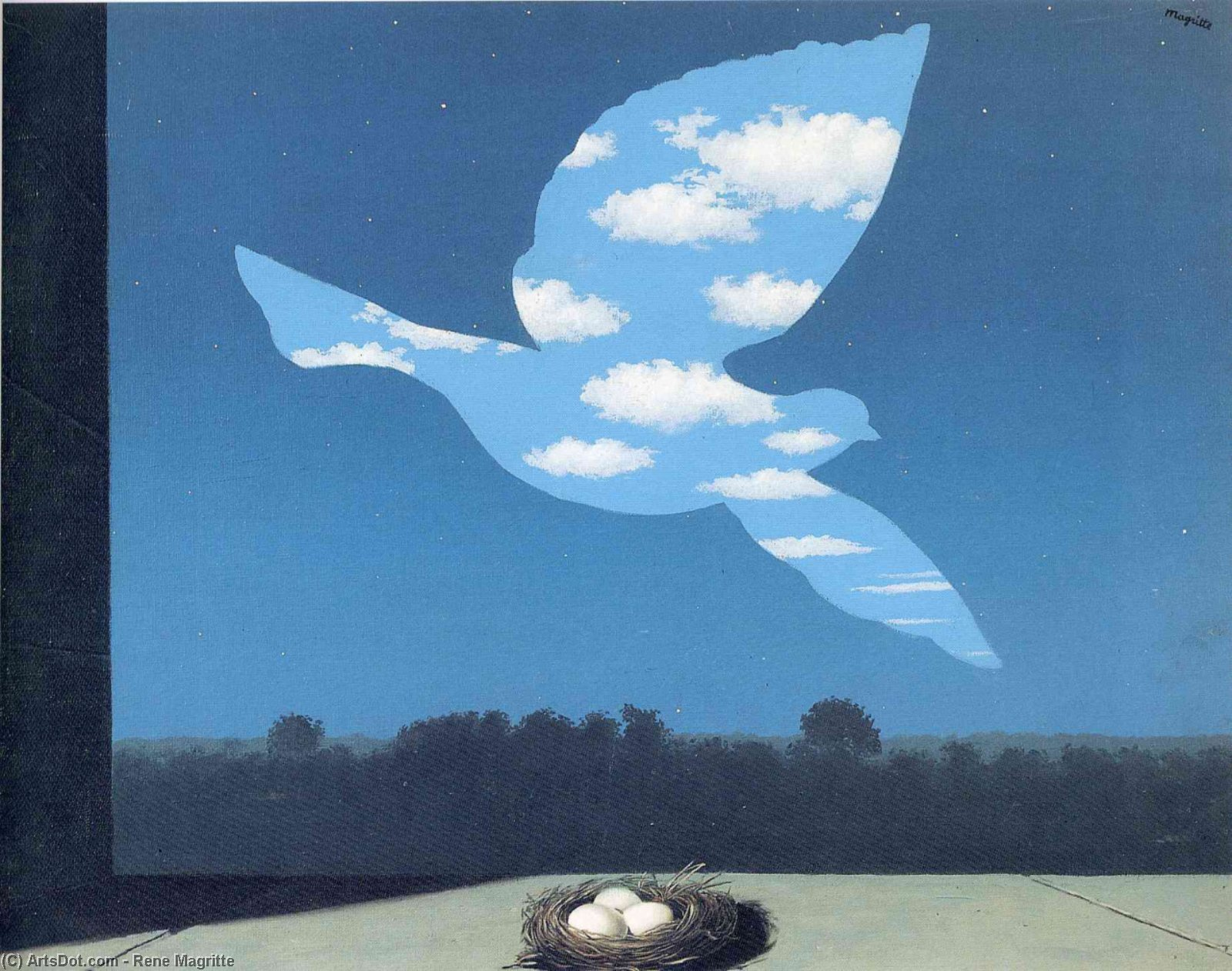 The Return, Oil On Canvas by Rene Magritte (1898-1967, Belgium)