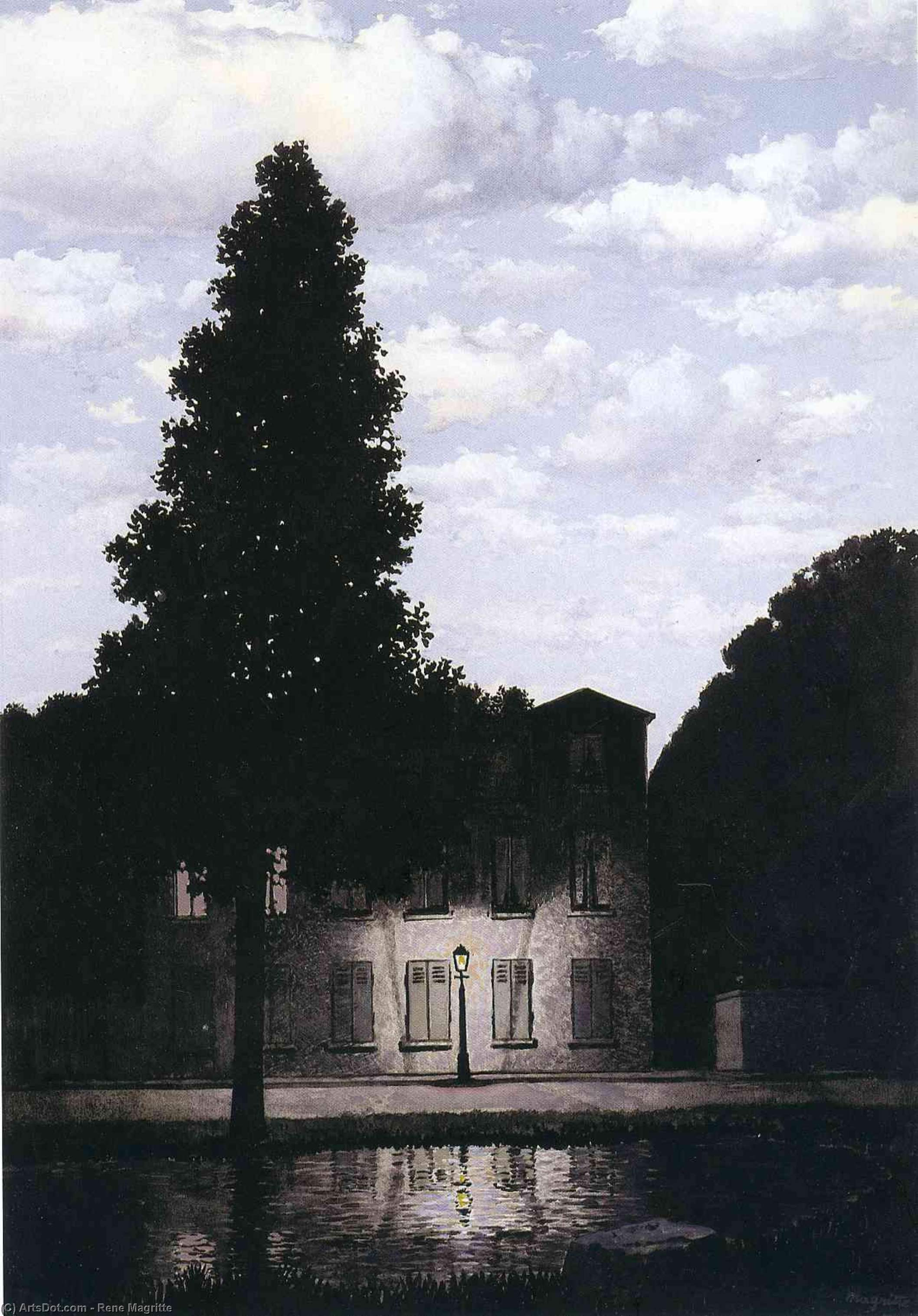 The empire of lights, 1954 by Rene Magritte (1898-1967, Belgium) | ArtsDot.com