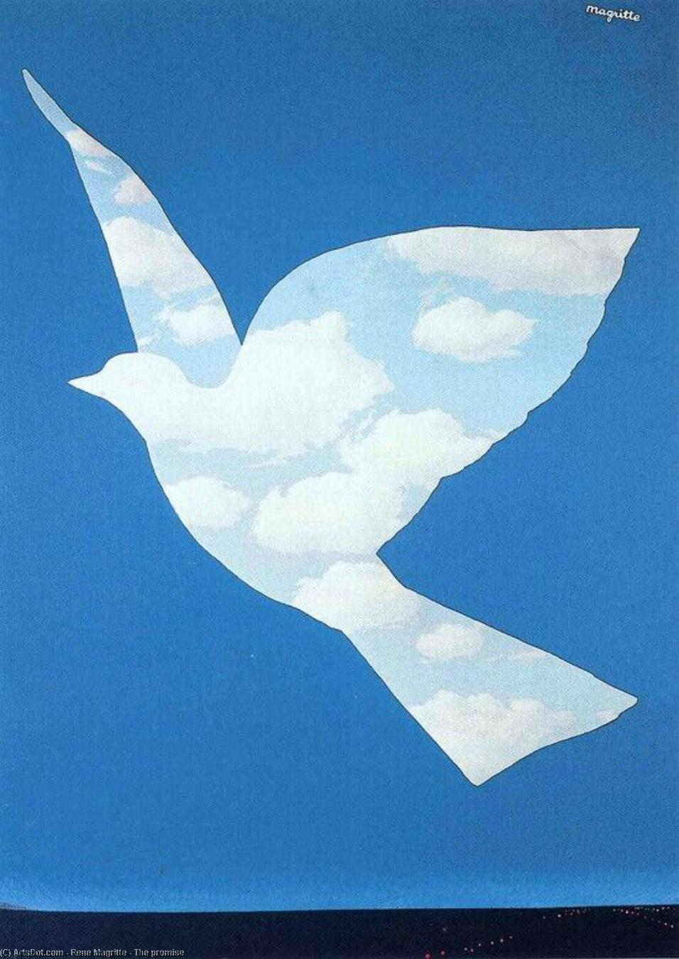 The promise, 1966 by Rene Magritte (1898-1967, Belgium) | Painting Copy | ArtsDot.com