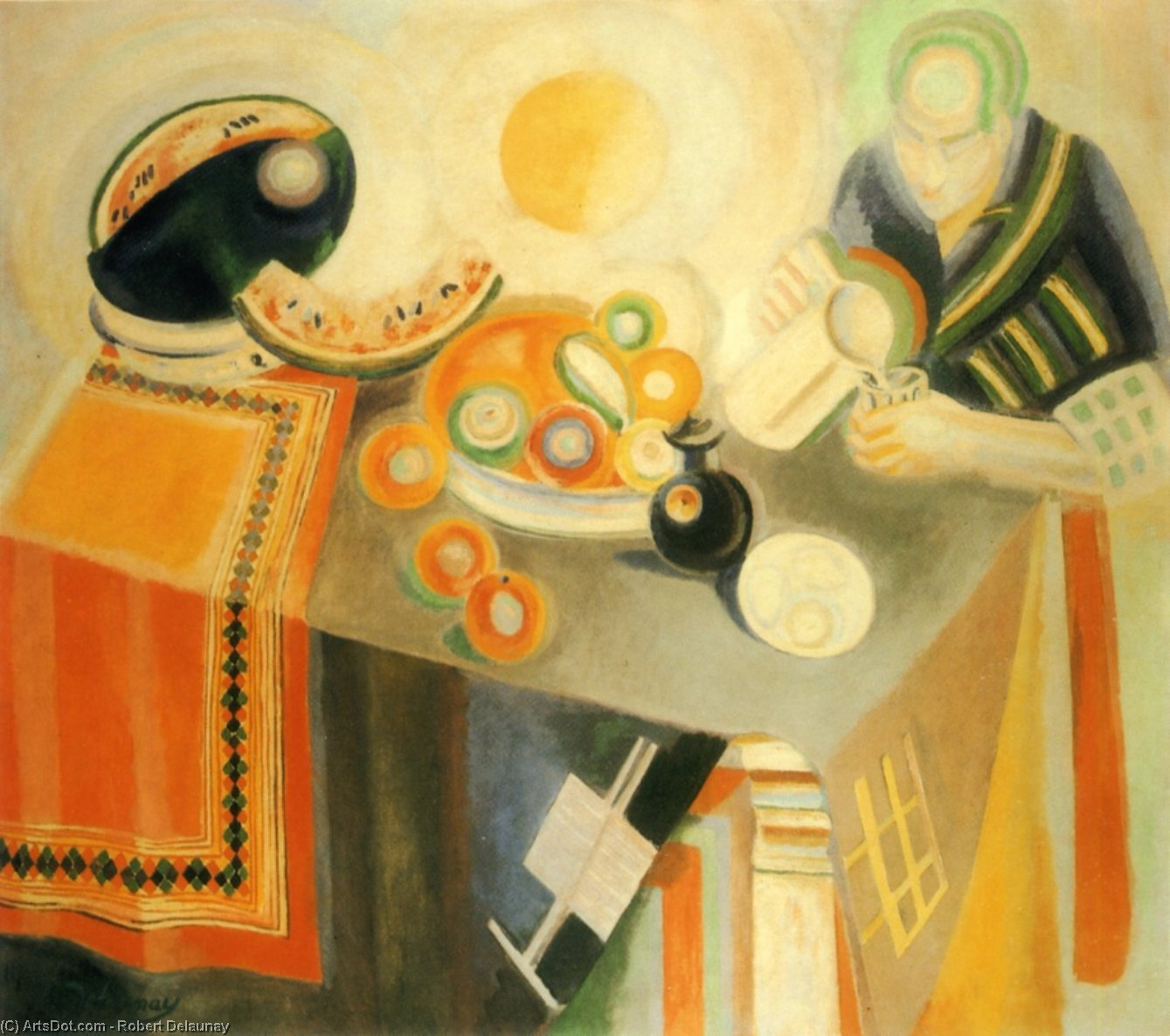 The Bowl, 1916 by Robert Delaunay (1885-1941, France)