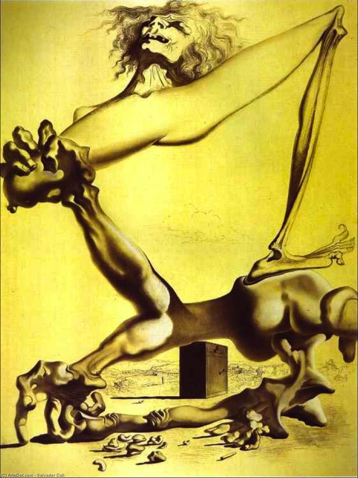 Premonition of Civil War, 1936 by Salvador Dali (1938-1989, Spain) | Museum Quality Reproductions | ArtsDot.com