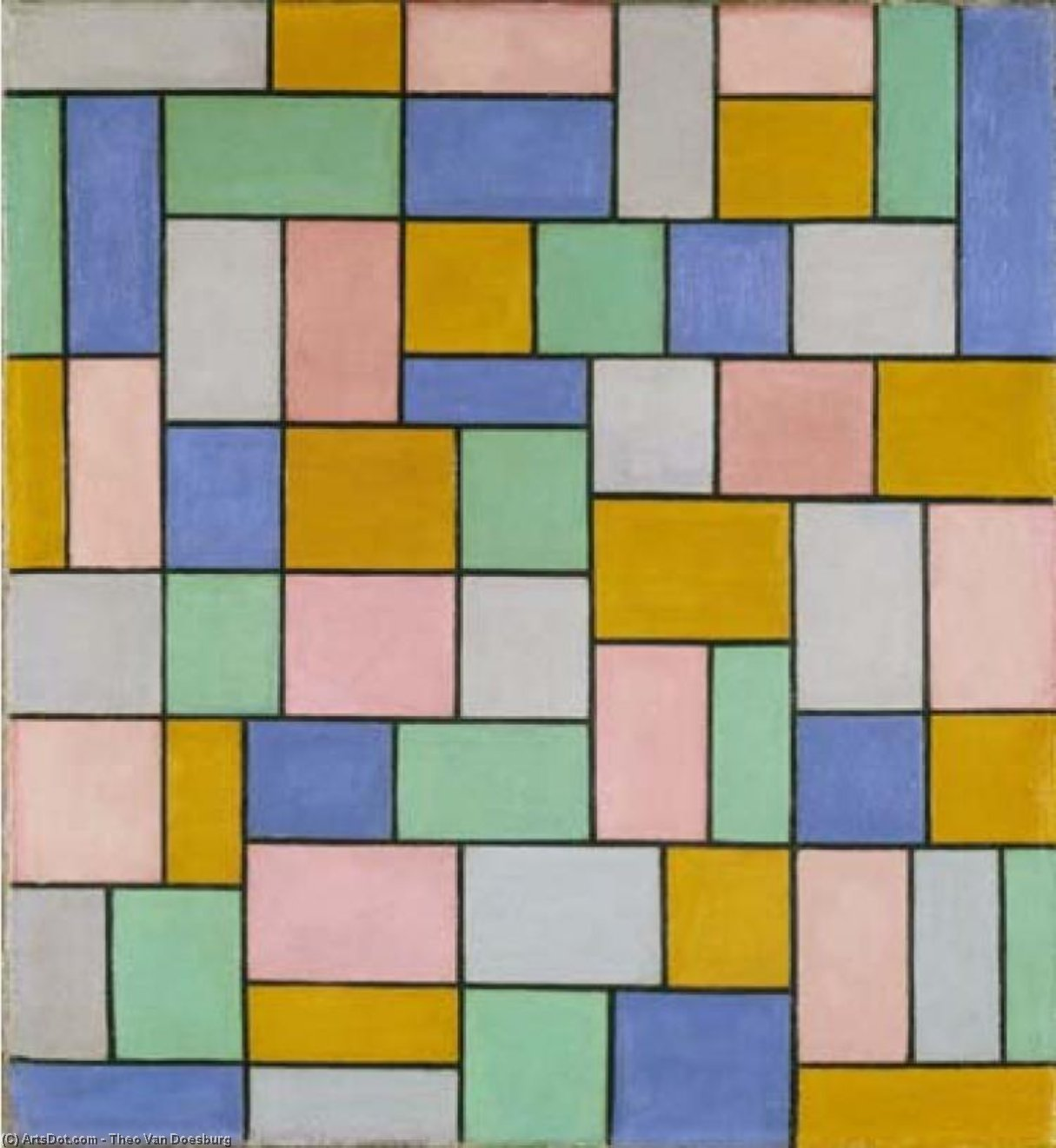 Composition in dissonances, 1919 by Theo Van Doesburg (1883-1931, Netherlands) | Art Reproduction | ArtsDot.com