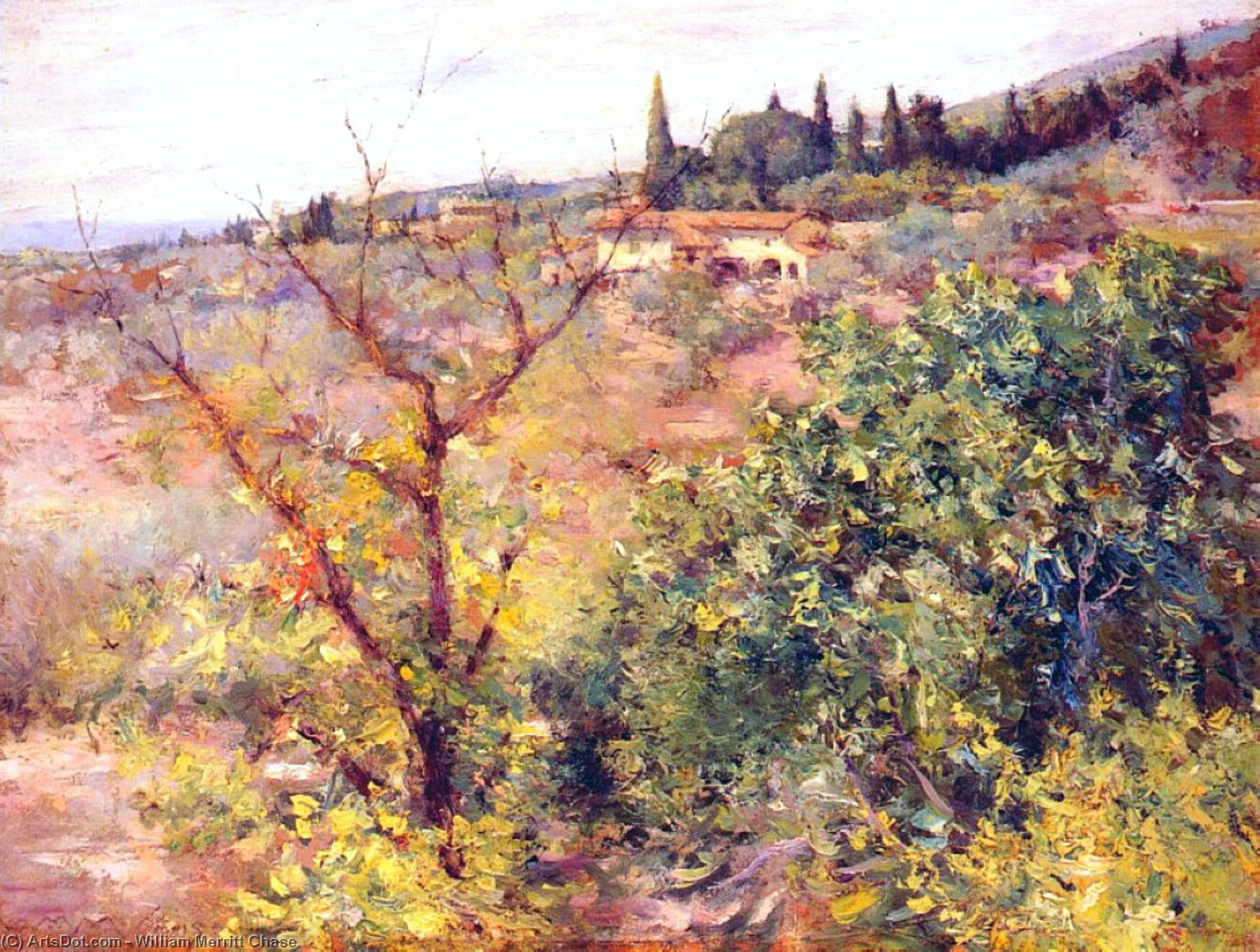 View of Fiesole, 1907 by William Merritt Chase (1849-1916, United States)