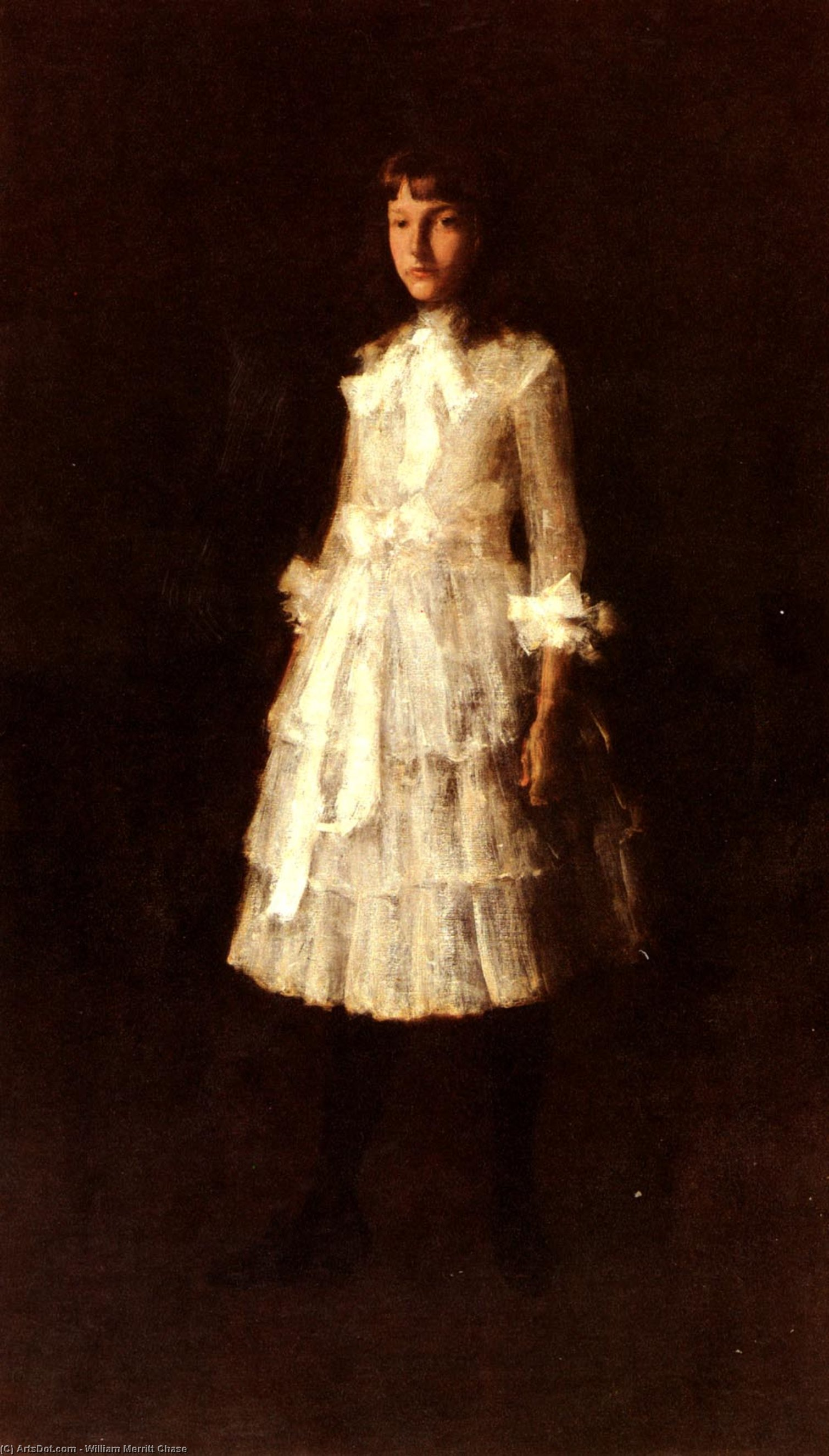 Hattie, Oil On Canvas by William Merritt Chase (1849-1916, United States)