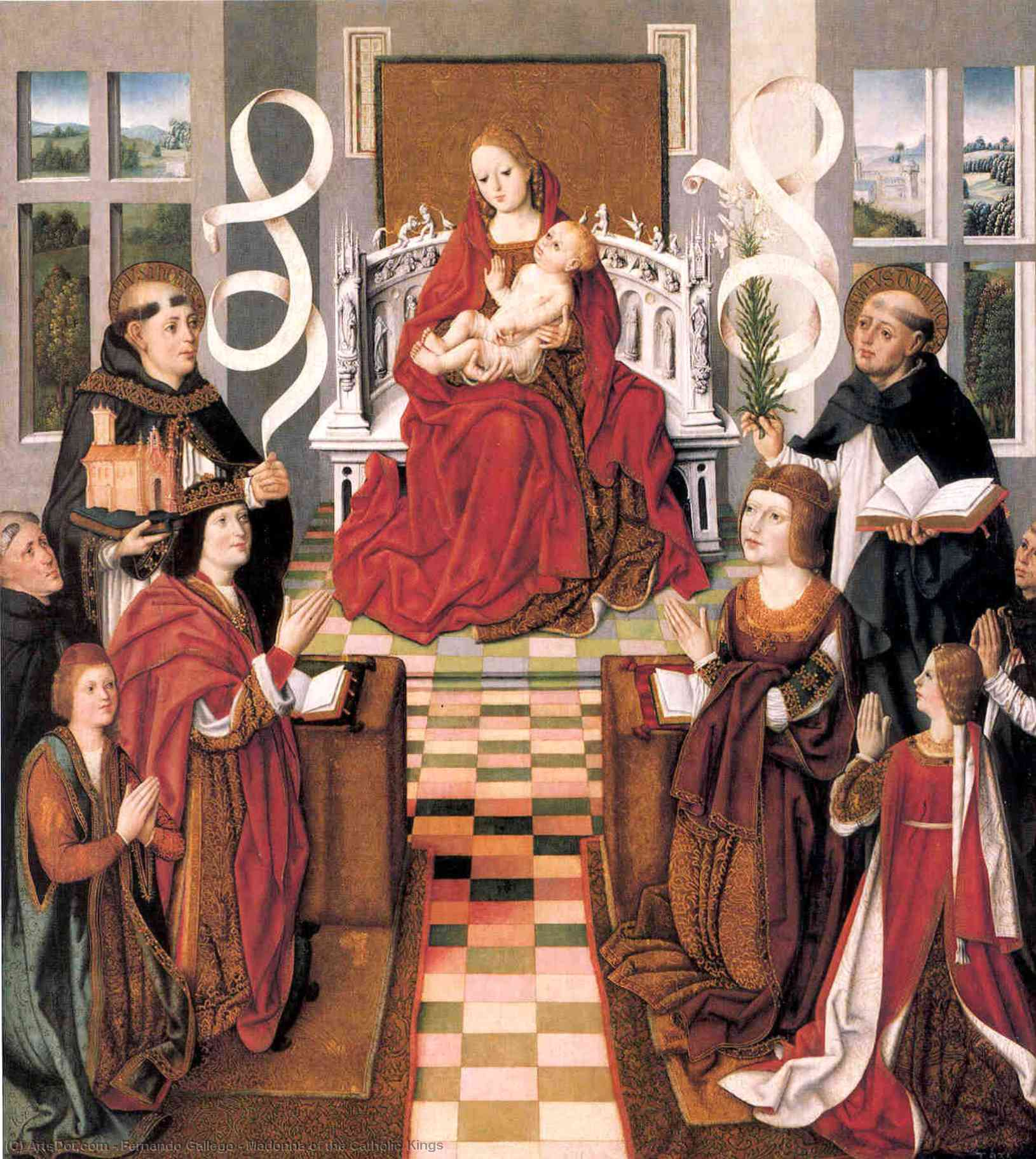 Order Oil Painting : Madonna of the Catholic Kings, 1490 by Fernando Gallego (1440-1507, Spain) | ArtsDot.com