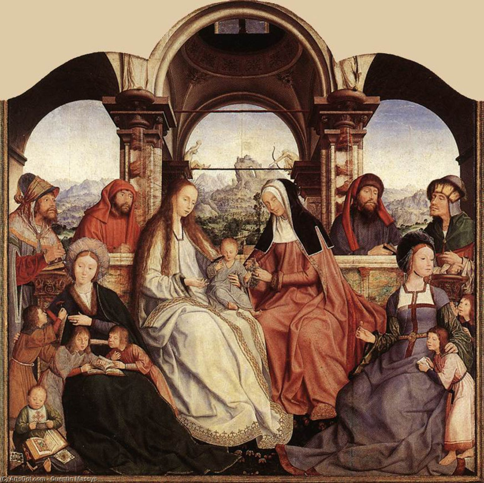 St Anne Altarpiece (central panel), 1507 by Quentin Massys (1466-1530, Belgium) | ArtsDot.com