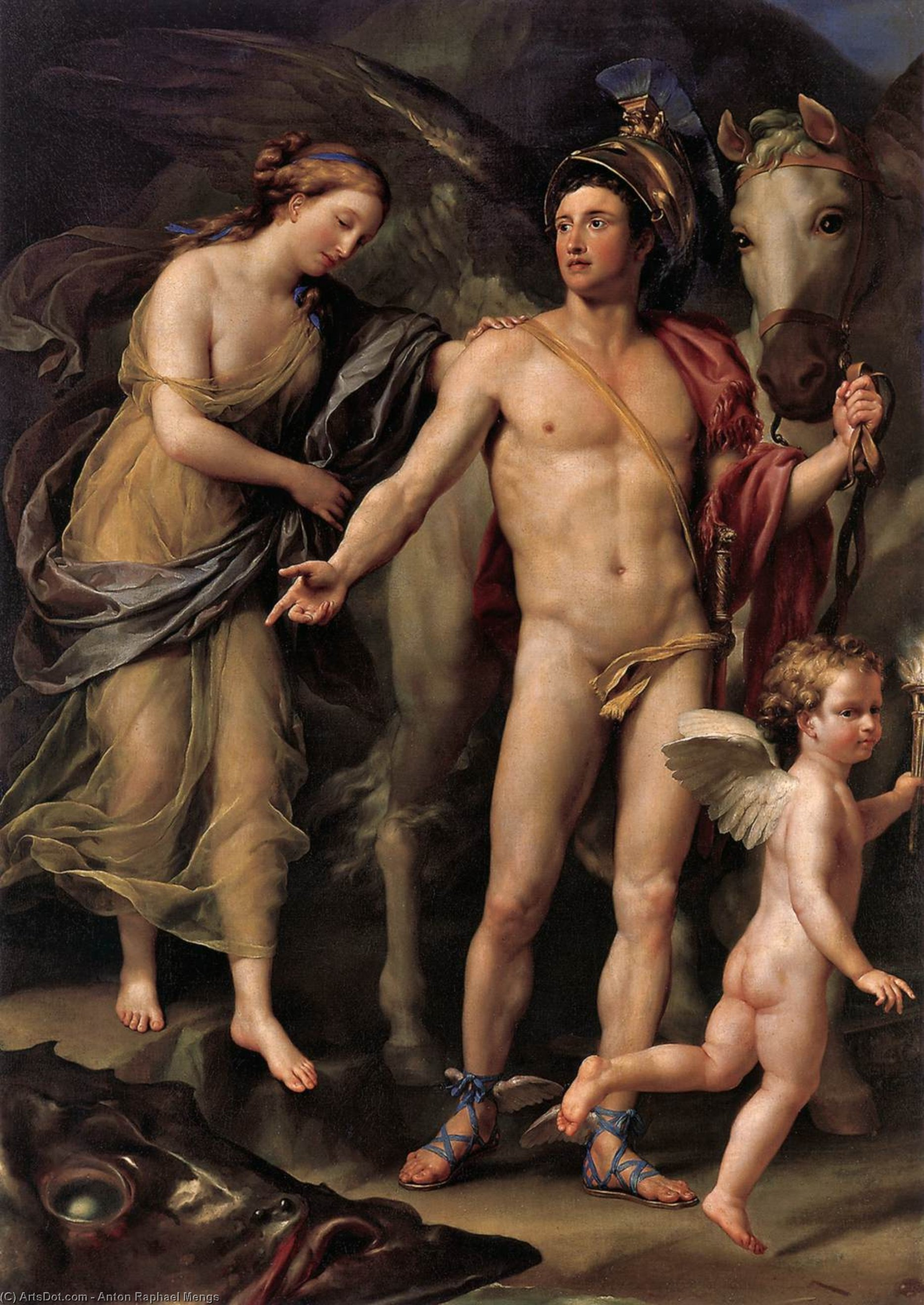 Perseus and Andromeda, 1774 by Anton Raphael Mengs (1728-1779, Czech Republic) | Art Reproduction | ArtsDot.com