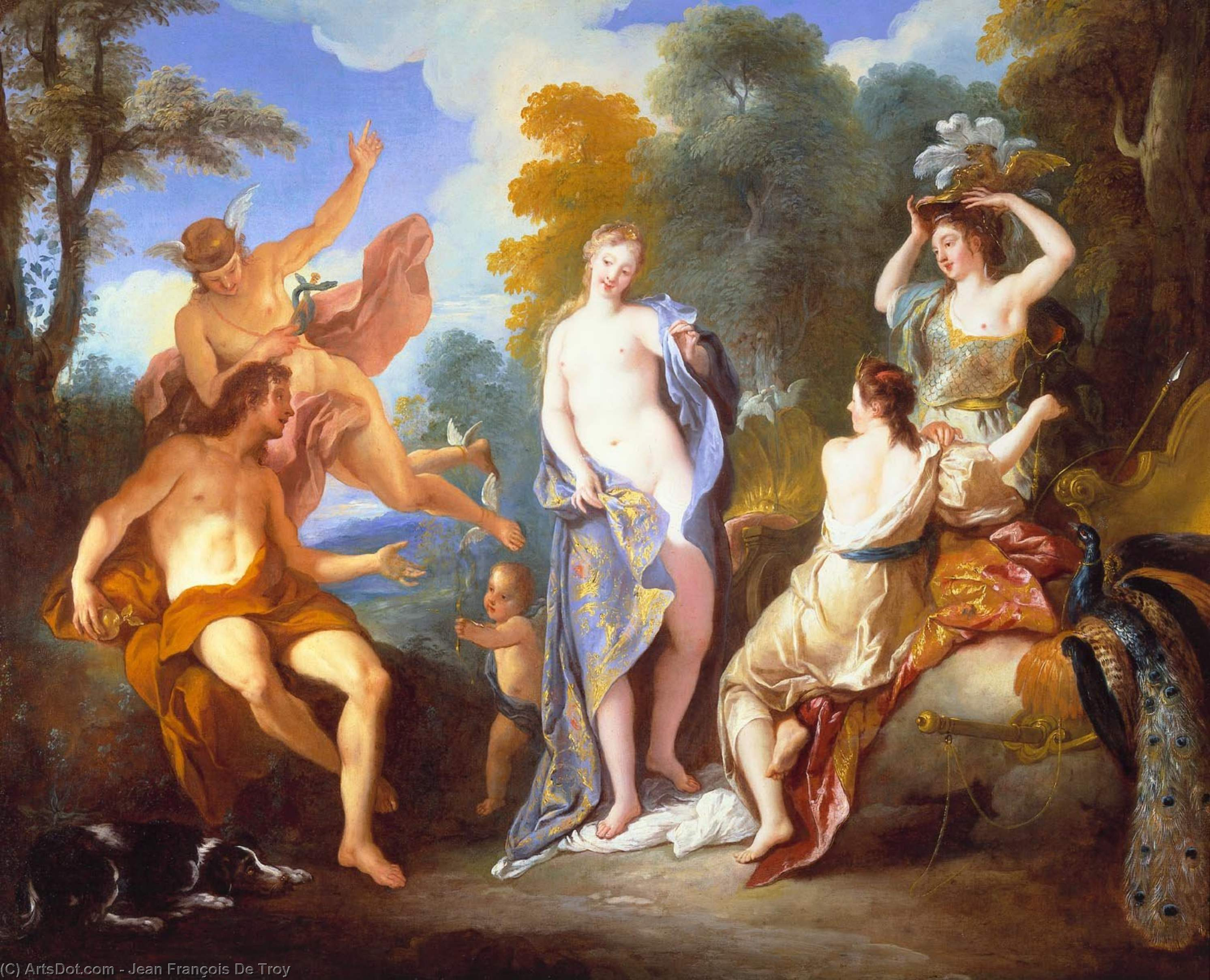 The Judgement of Paris, 1734 by Jean François De Troy (1645-1730, France) | Museum Quality Reproductions | ArtsDot.com
