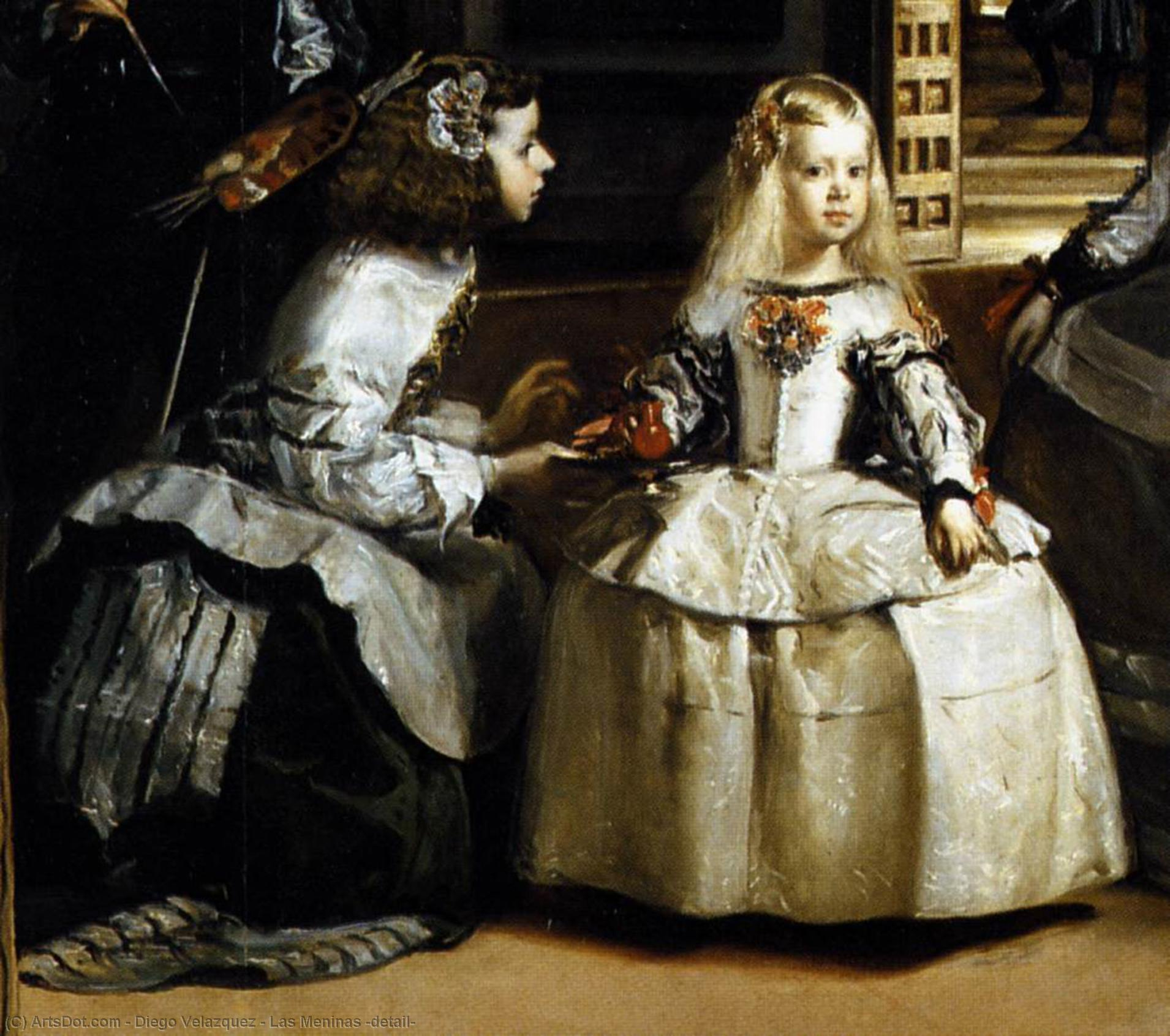 Las Meninas (detail), 1656 by Diego Velazquez (1599-1660, Spain) | Painting Copy | ArtsDot.com