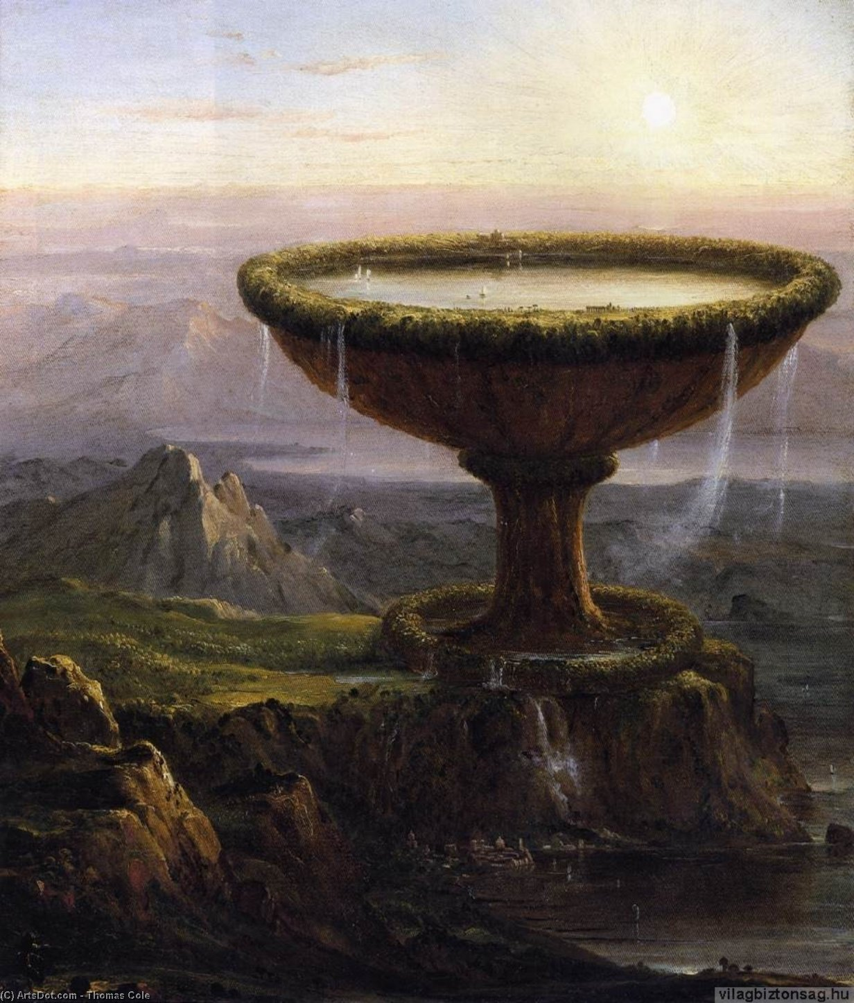 The Titan's Goblet, Oil On Canvas by Thomas Cole (1801-1848, United Kingdom)