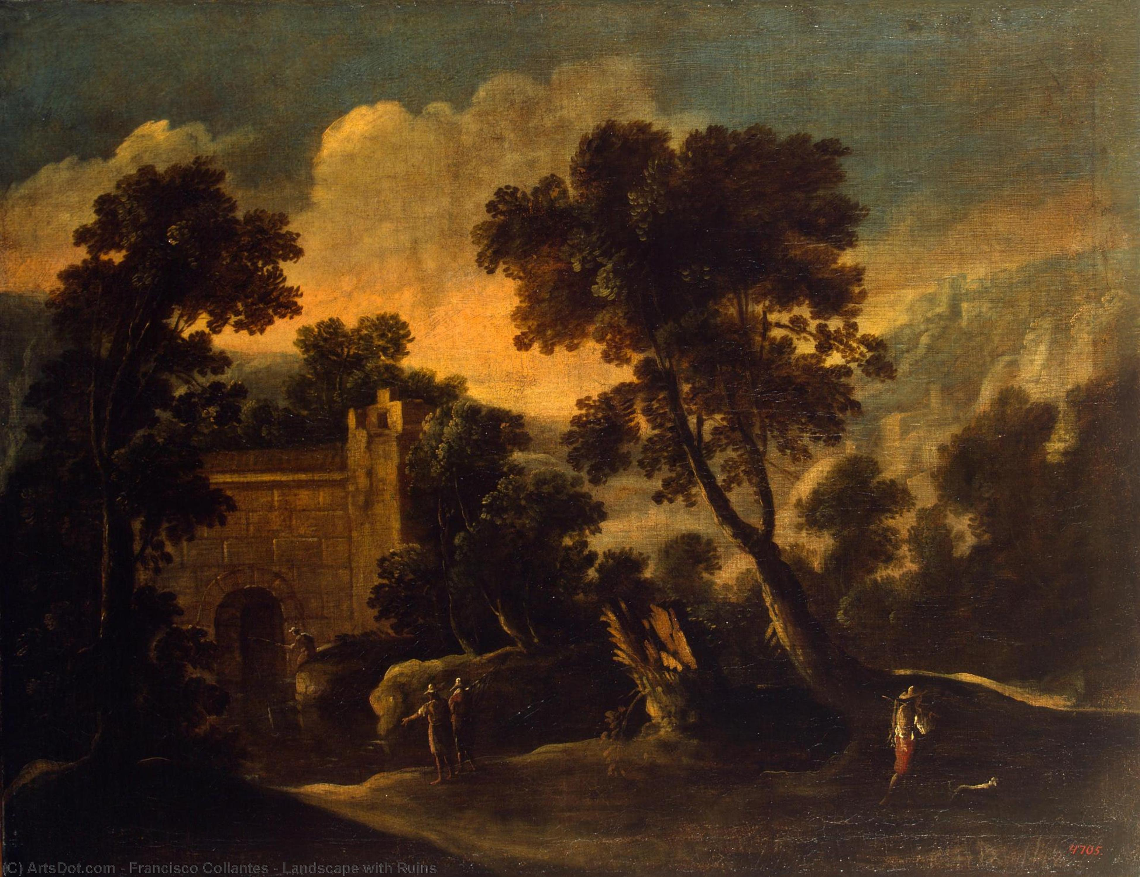 Landscape with Ruins, 1634 by Francisco Collantes (1599-1656, Spain) | Museum Quality Reproductions | ArtsDot.com