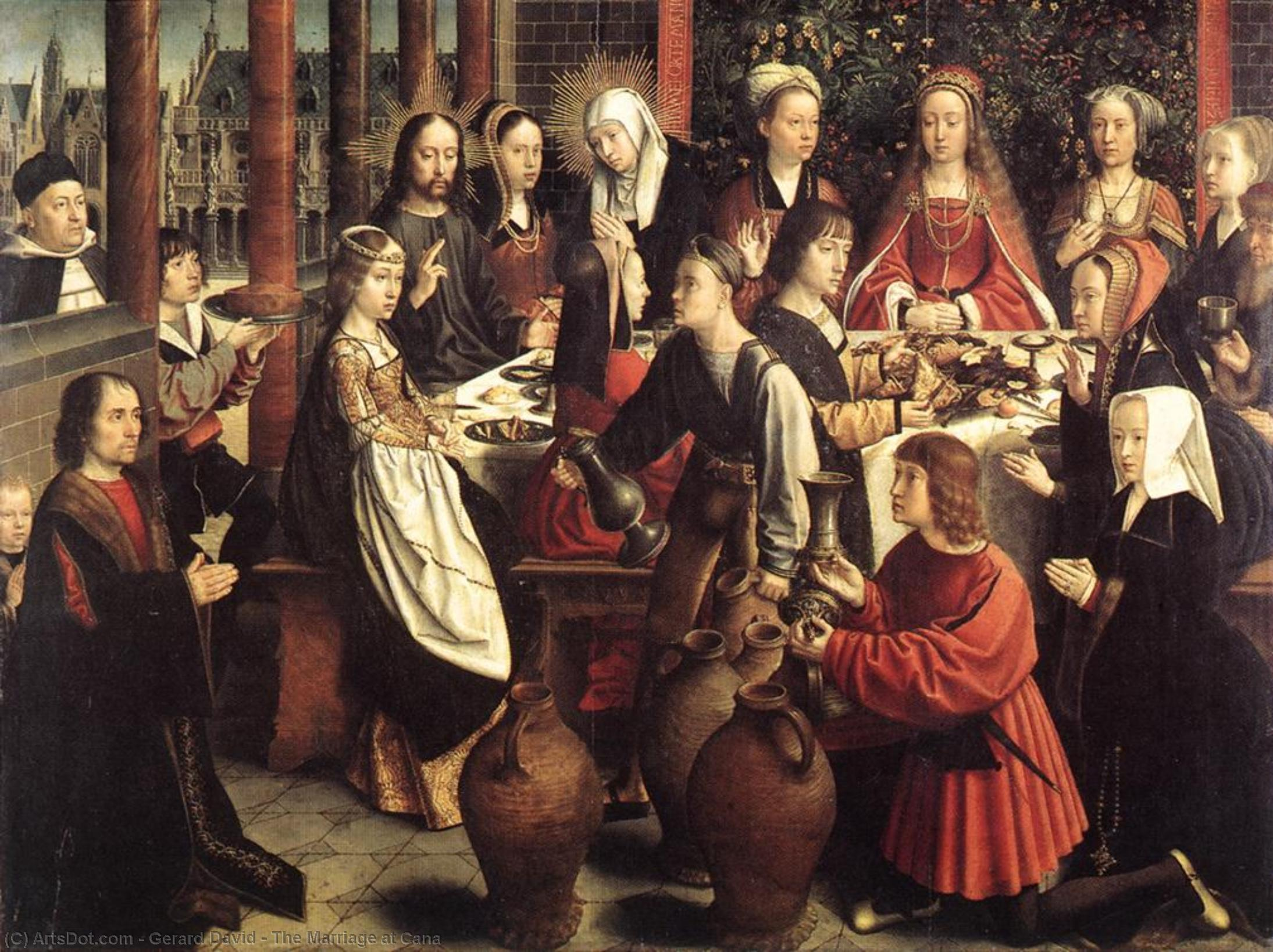 The Marriage at Cana, 1500 by Gerard David (1450-1523, Netherlands) | Paintings Reproductions Gerard David | ArtsDot.com