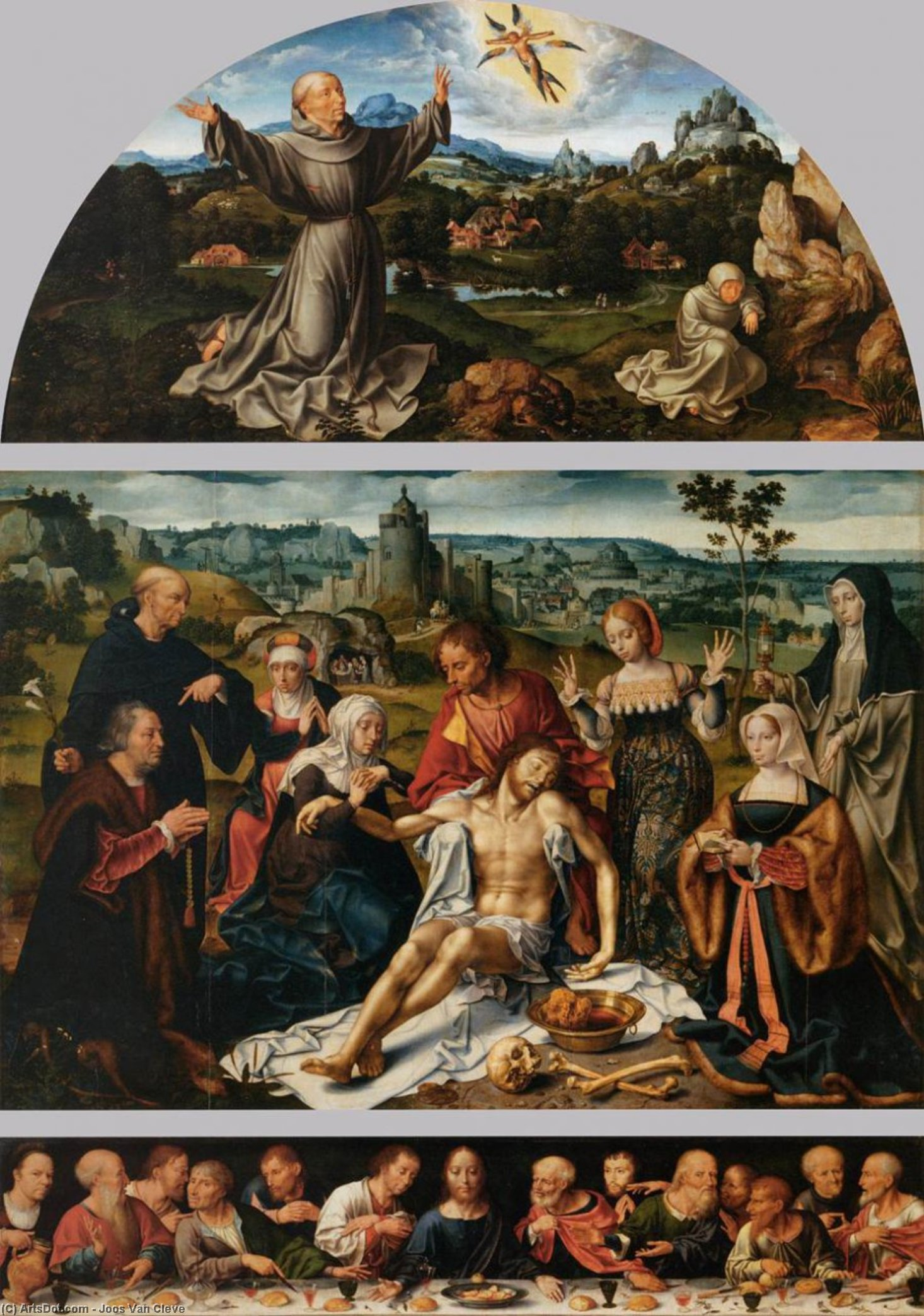Altarpiece of the Lamentation, 1520 by Joos Van Cleve (1485-1540, Germany) | Museum Quality Reproductions | ArtsDot.com
