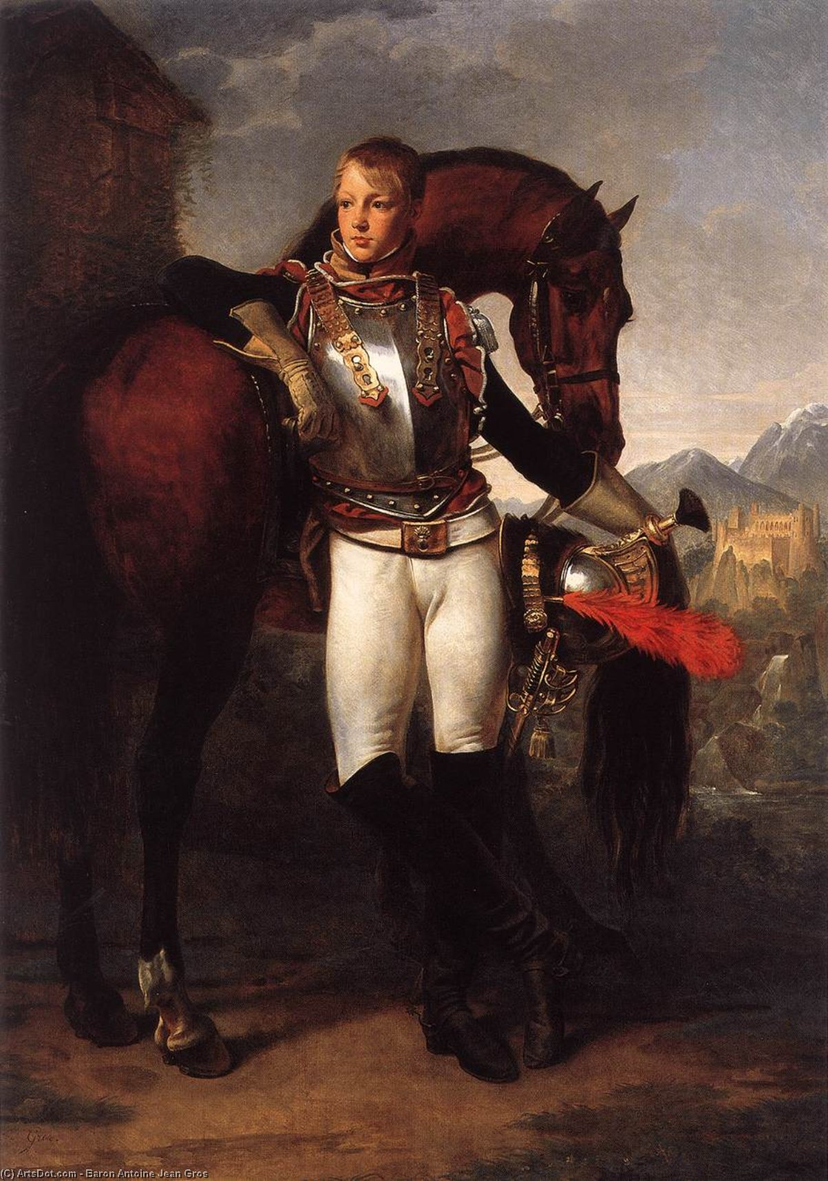 Portrait of the Second Lieutenant Charles Legrand, Oil On Canvas by Baron Antoine Jean Gros (1771-1835, France)