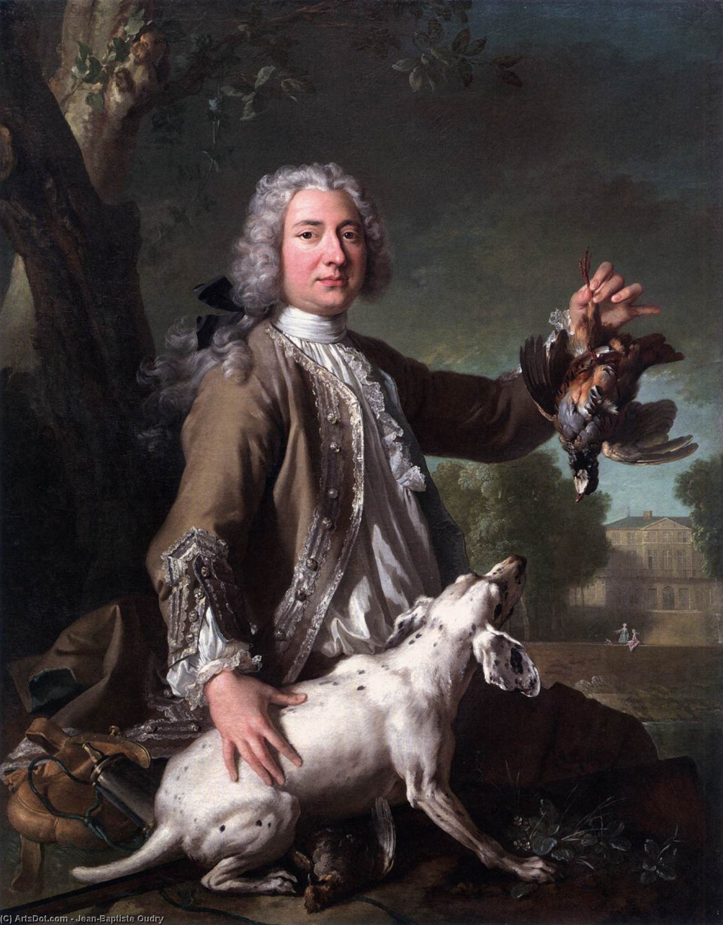Henri Camille, Chevalier de Beringhen, Oil On Canvas by Jean-Baptiste Oudry (1686-1755, France)