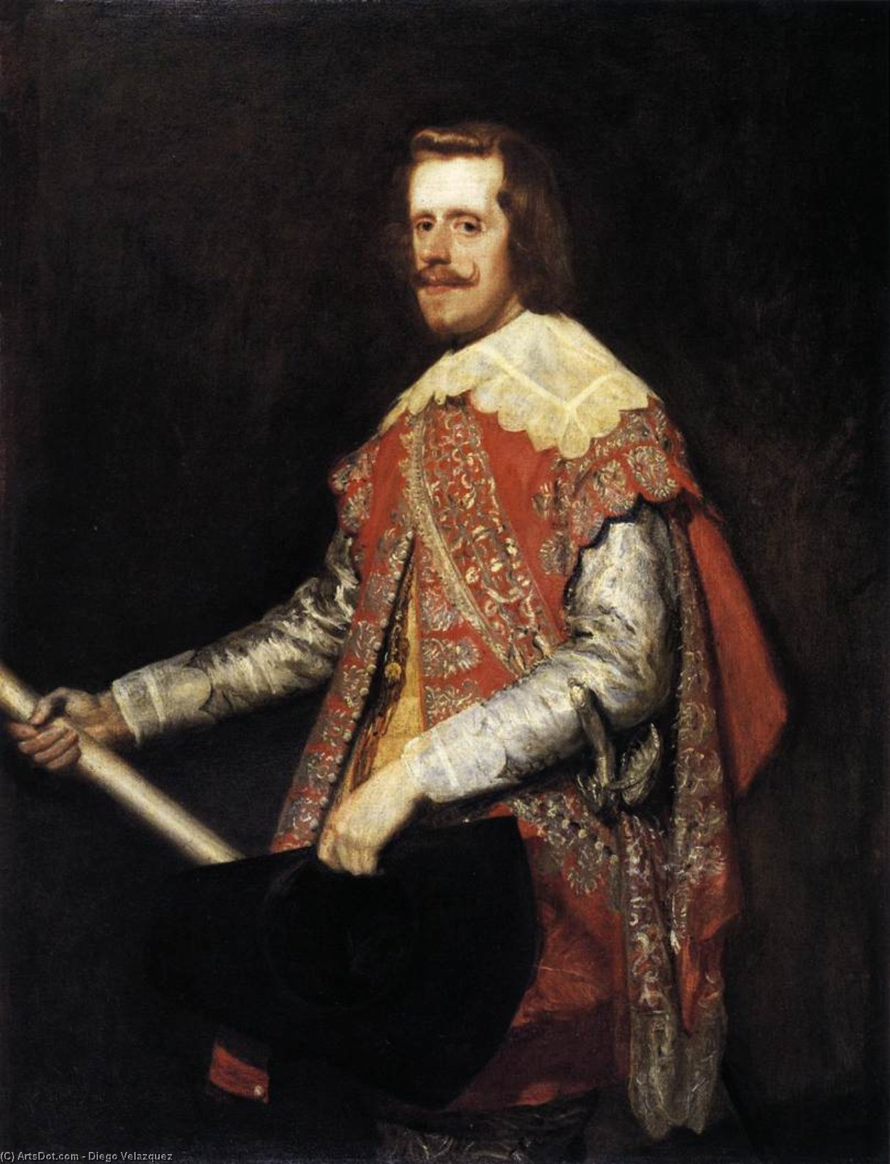 Phillip IV in Army Dress (The portrait of Fraga), Oil On Canvas by Diego Velazquez (1599-1660, Spain)